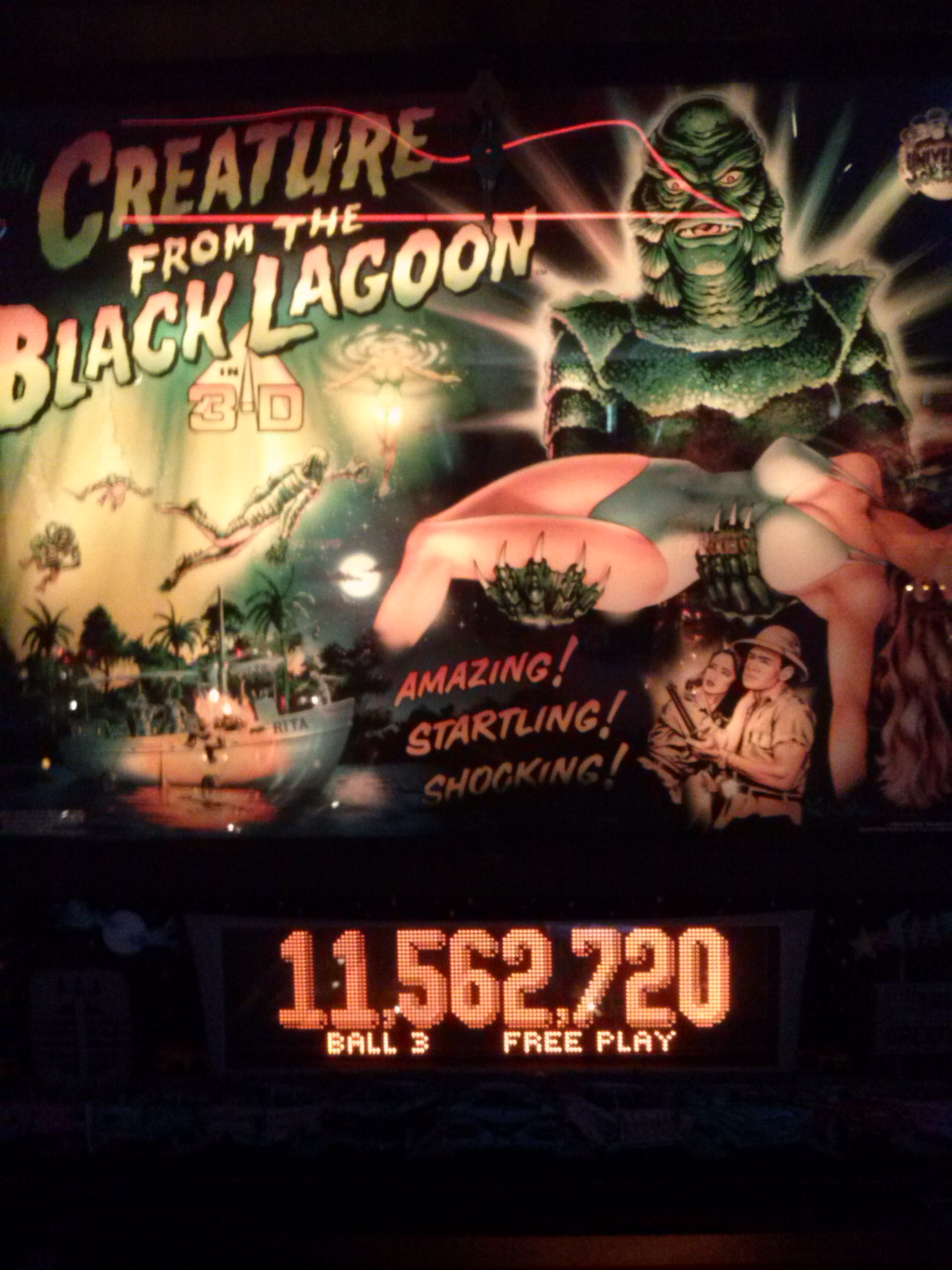 Creature from the Black Lagoon 11,562,720 points