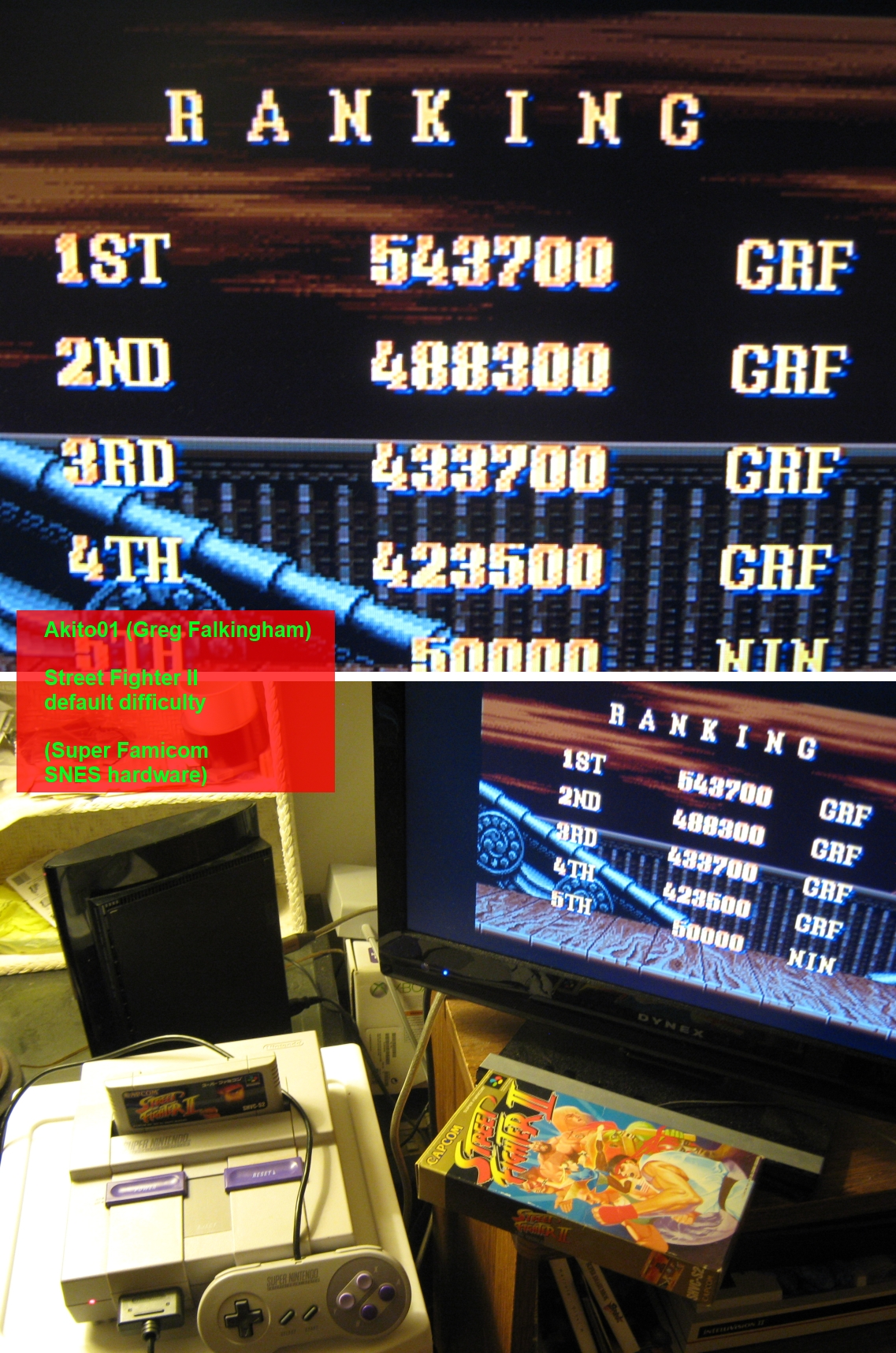 Akito01: Street Fighter II: The World Warrior (SNES/Super Famicom) 543,700 points on 2014-05-22 23:34:24