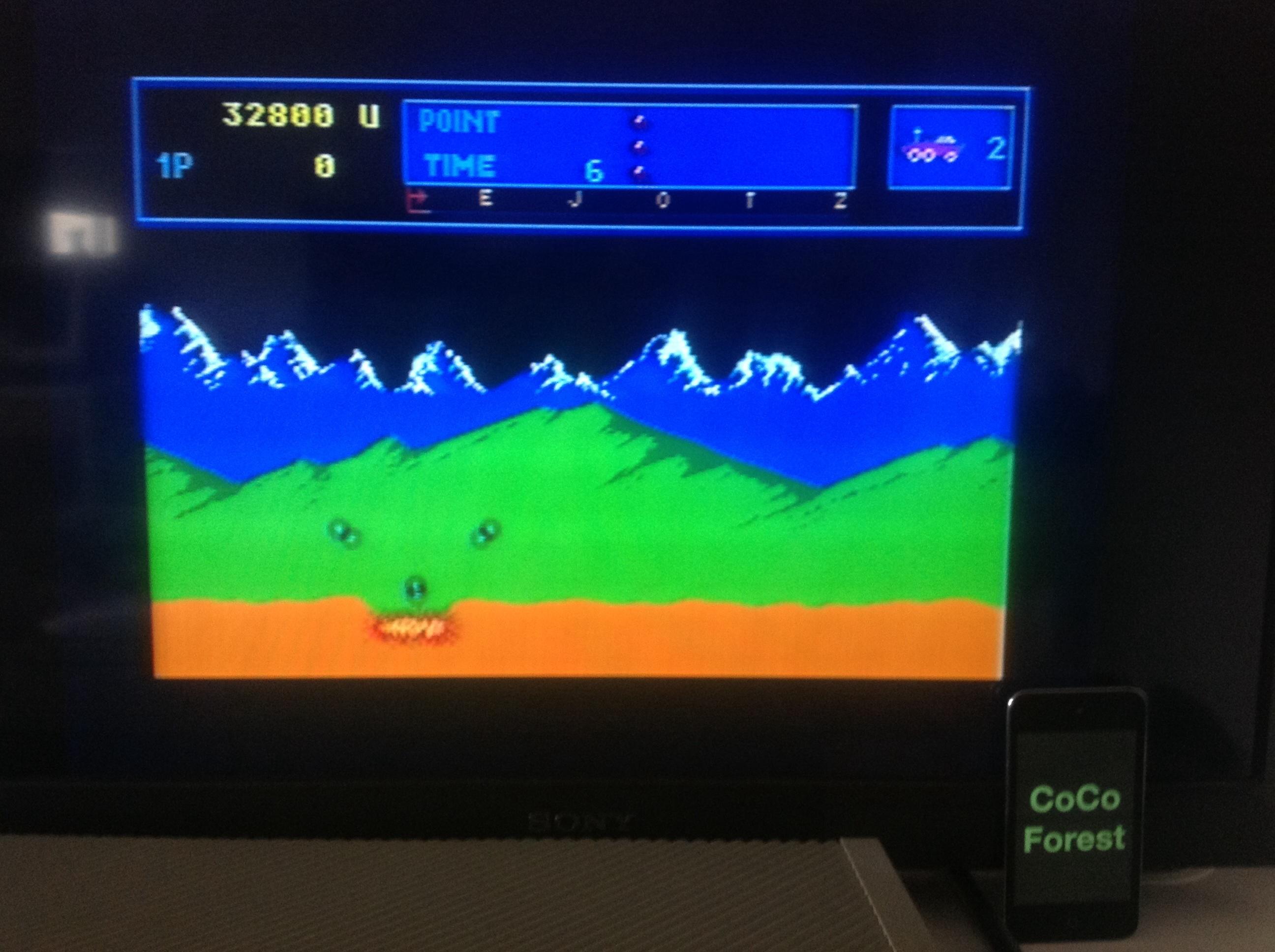 CoCoForest: Moon Patrol (Atari ST) 32,800 points on 2014-05-23 08:13:22