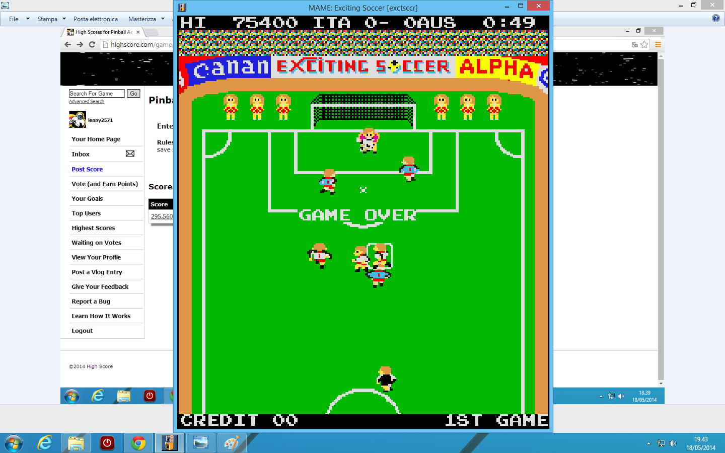 Exciting Soccer [exctsccr] 75,400 points