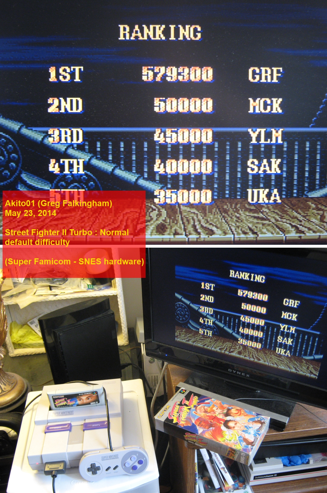 Street Fighter 2 Turbo: Hyper Fighting: Normal 579,300 points