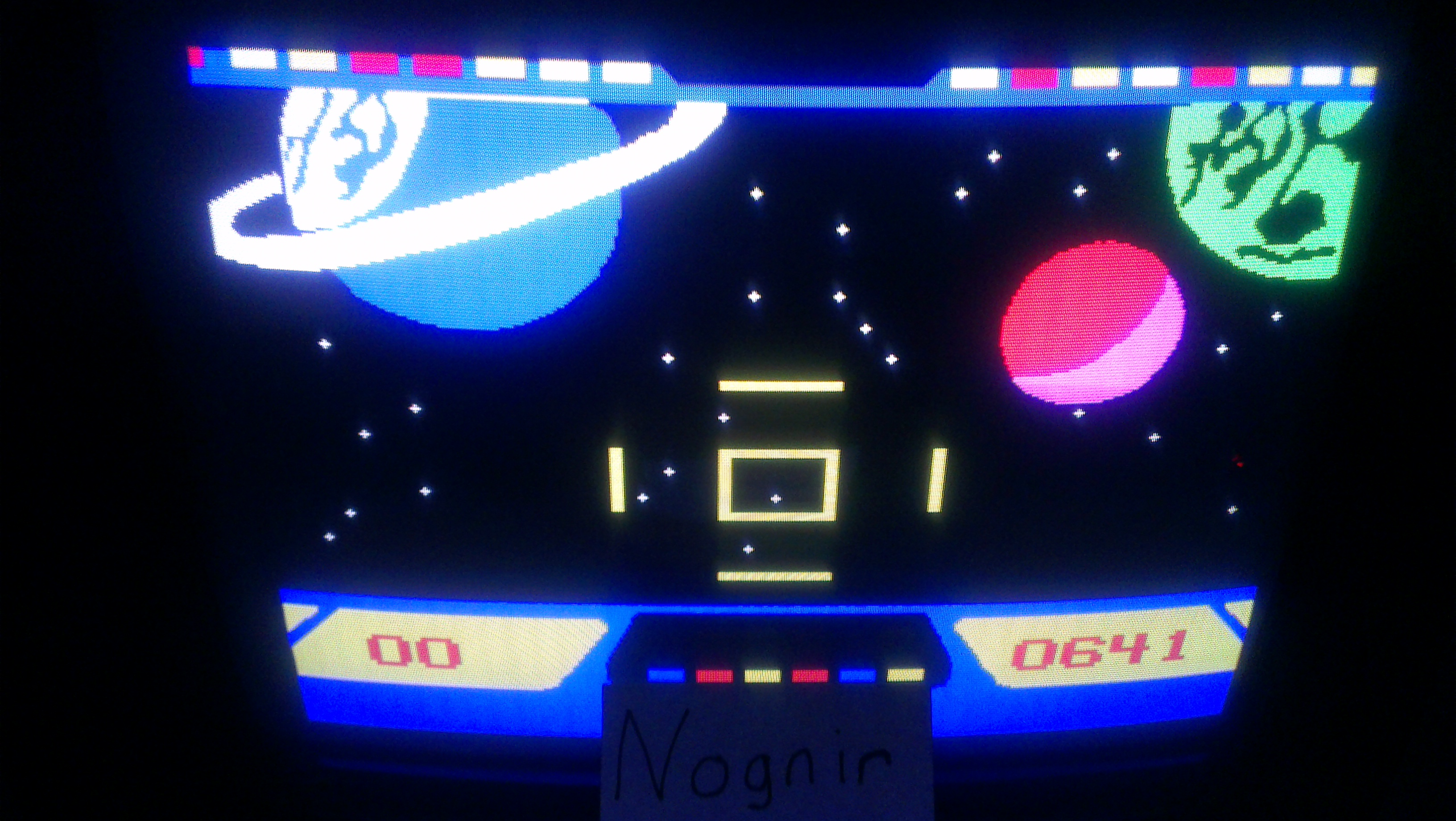 Nognir: Cosmic Conflict (Odyssey 2 / Videopac) 641 points on 2014-05-23 17:30:16