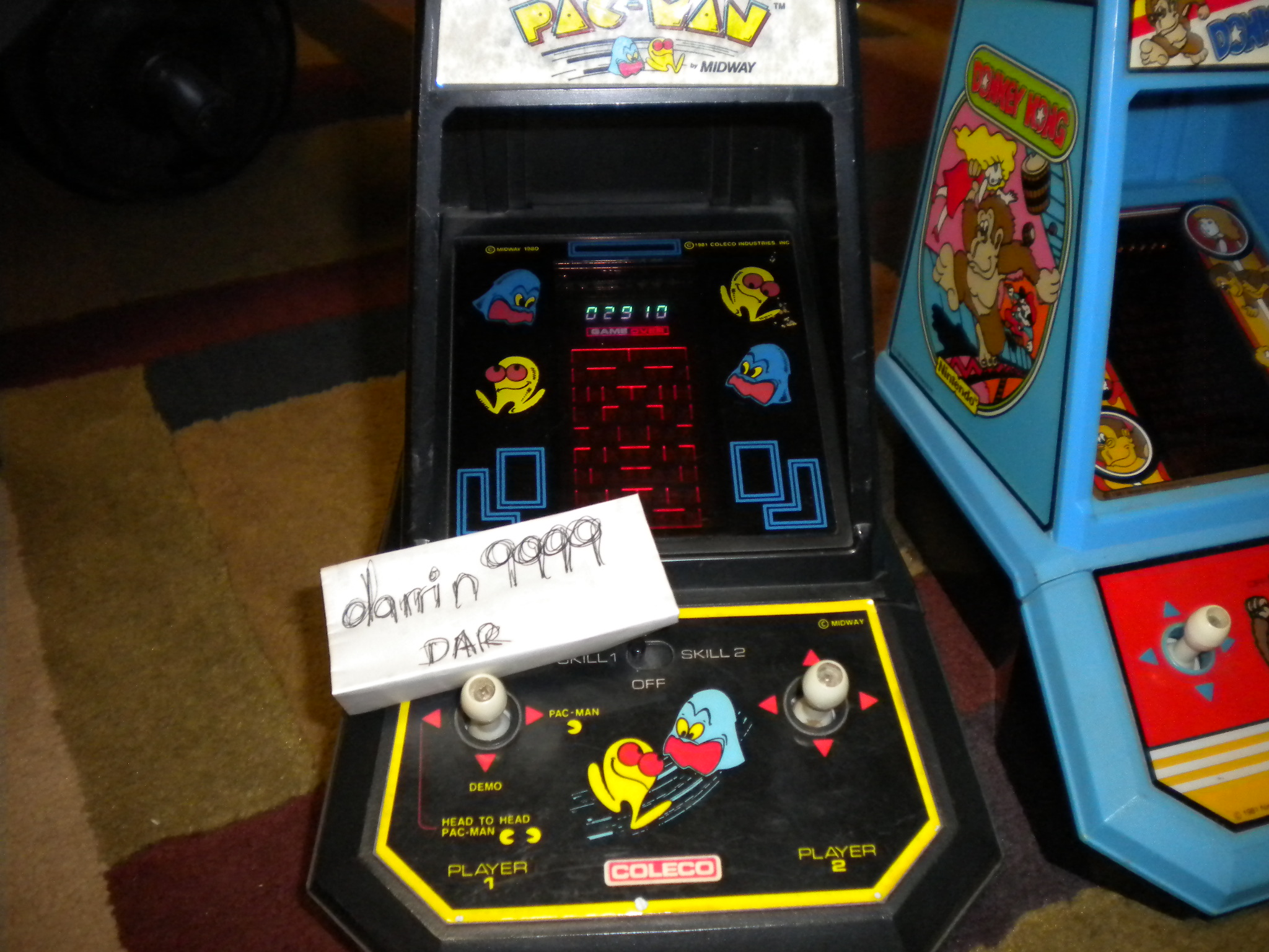Coleco Pac-Man 2,910 points