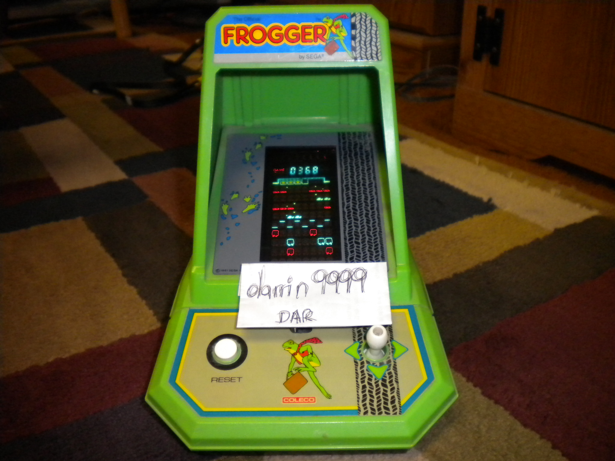 Coleco Frogger 368 points