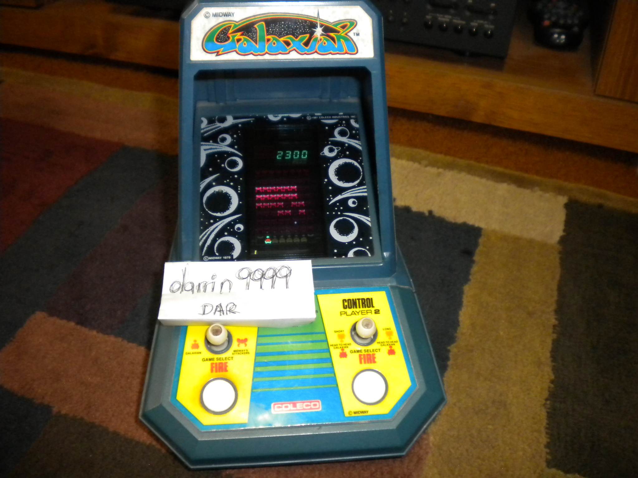 Coleco Galaxian 2,300 points