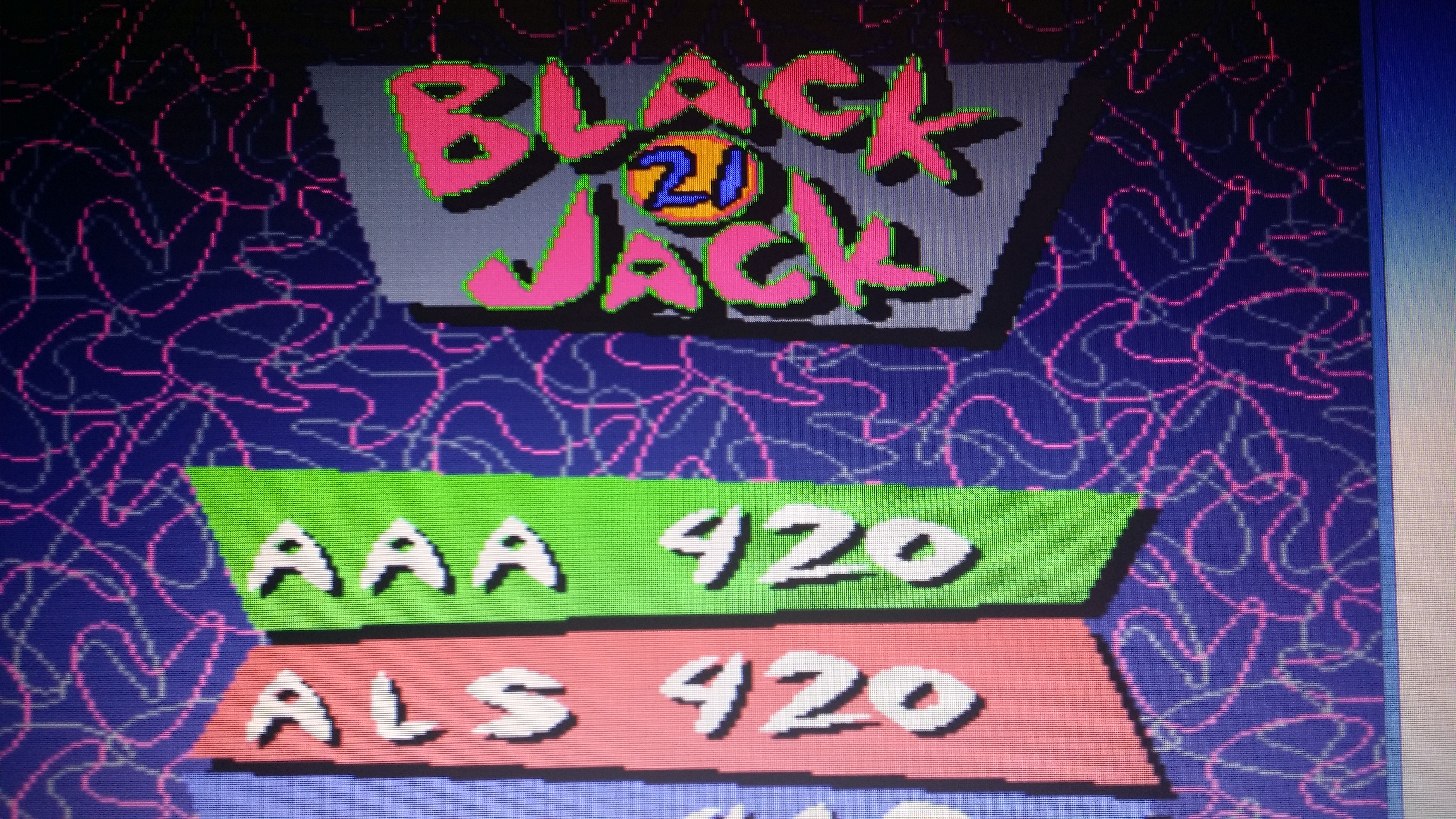 muscleandfitness: Bowl-O-Rama: BlackJack (Arcade Emulated / M.A.M.E.) 420 points on 2014-05-24 04:18:35
