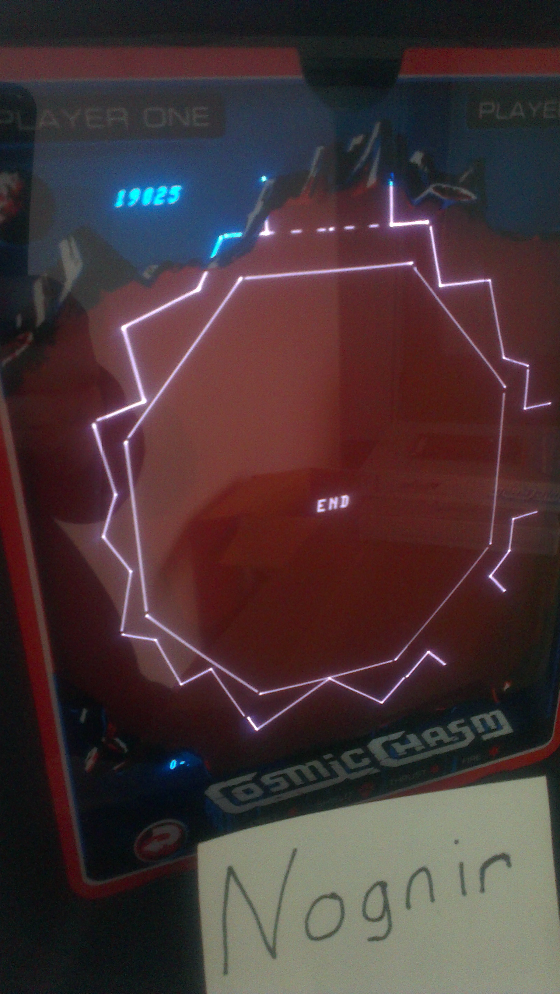 Nognir: Cosmic Chasm (Vectrex) 19,025 points on 2014-05-24 05:19:06