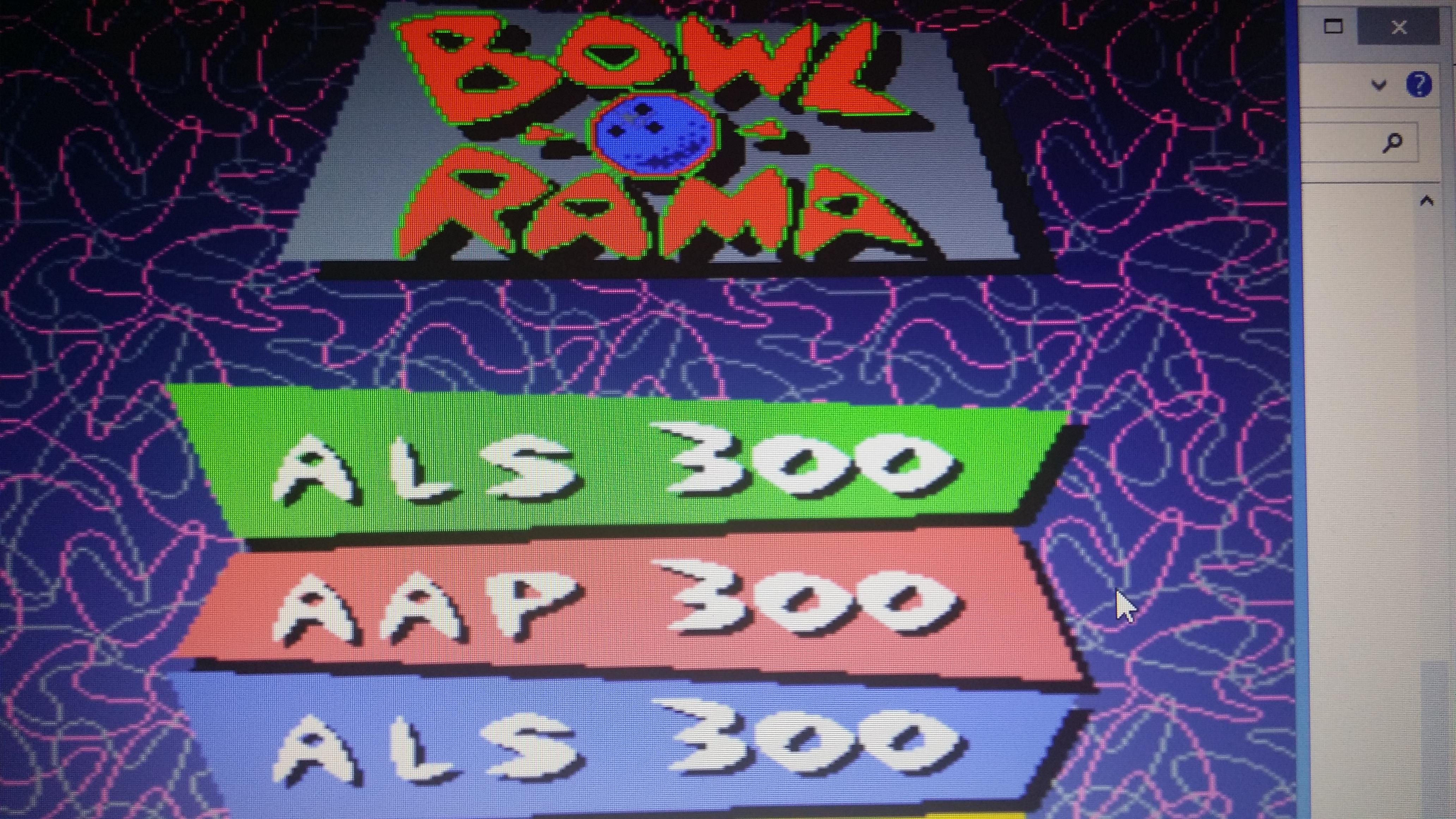 Bowl-O-Rama: Regulation Bowling 300 points