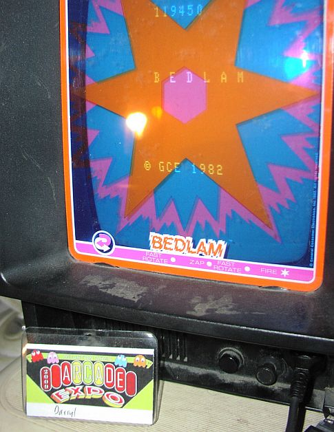 DarrylB: Bedlam (Vectrex) 119,450 points on 2014-05-24 12:42:04