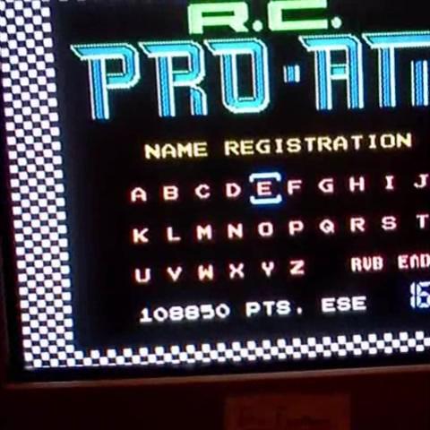 R.C. Pro-Am 108,850 points