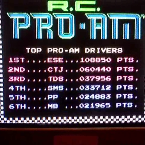 R.C. Pro-Am 108,850 points