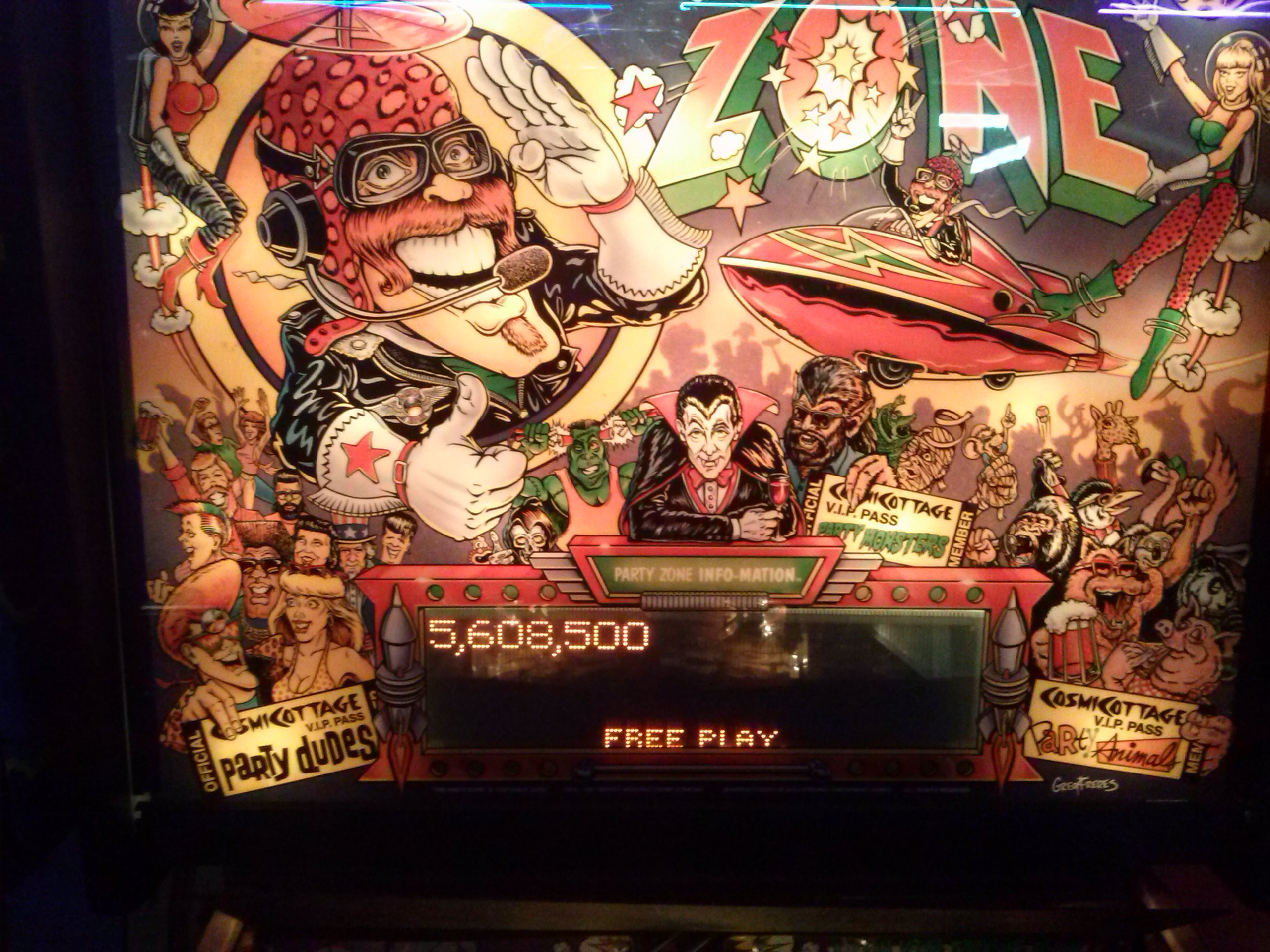 nester: The Party Zone (Pinball: 3 Balls) 5,608,500 points on 2014-05-25 01:03:45