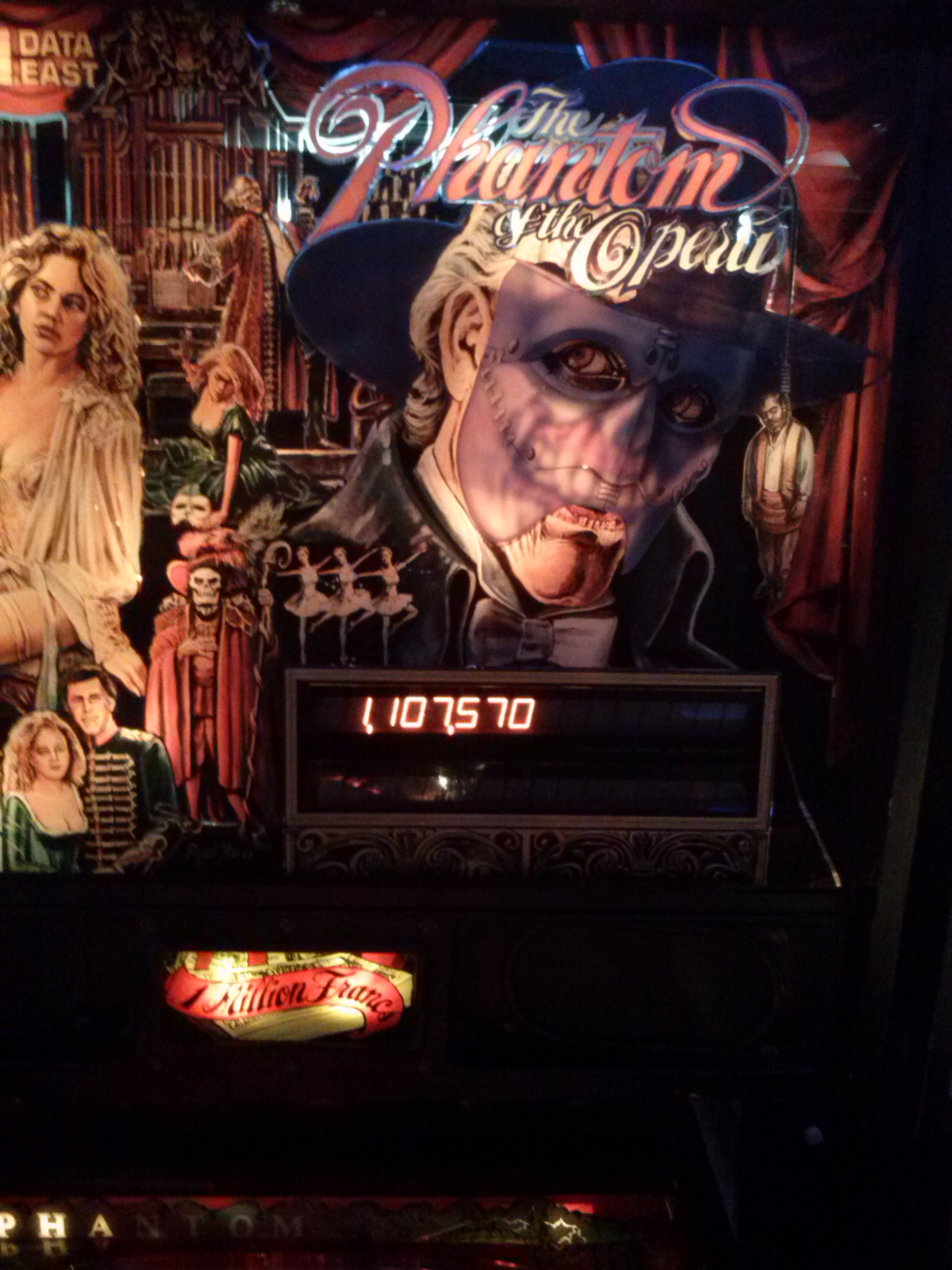 nester: The Phantom of the Opera (Pinball: 3 Balls) 1,107,570 points on 2014-05-25 01:07:26