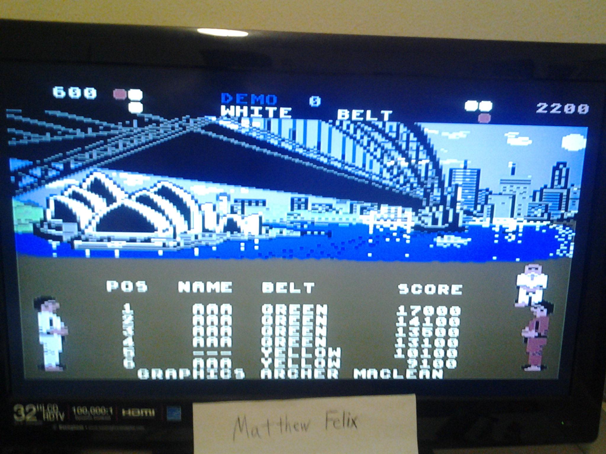 International Karate (Wii Virtual Console: Commodore 64