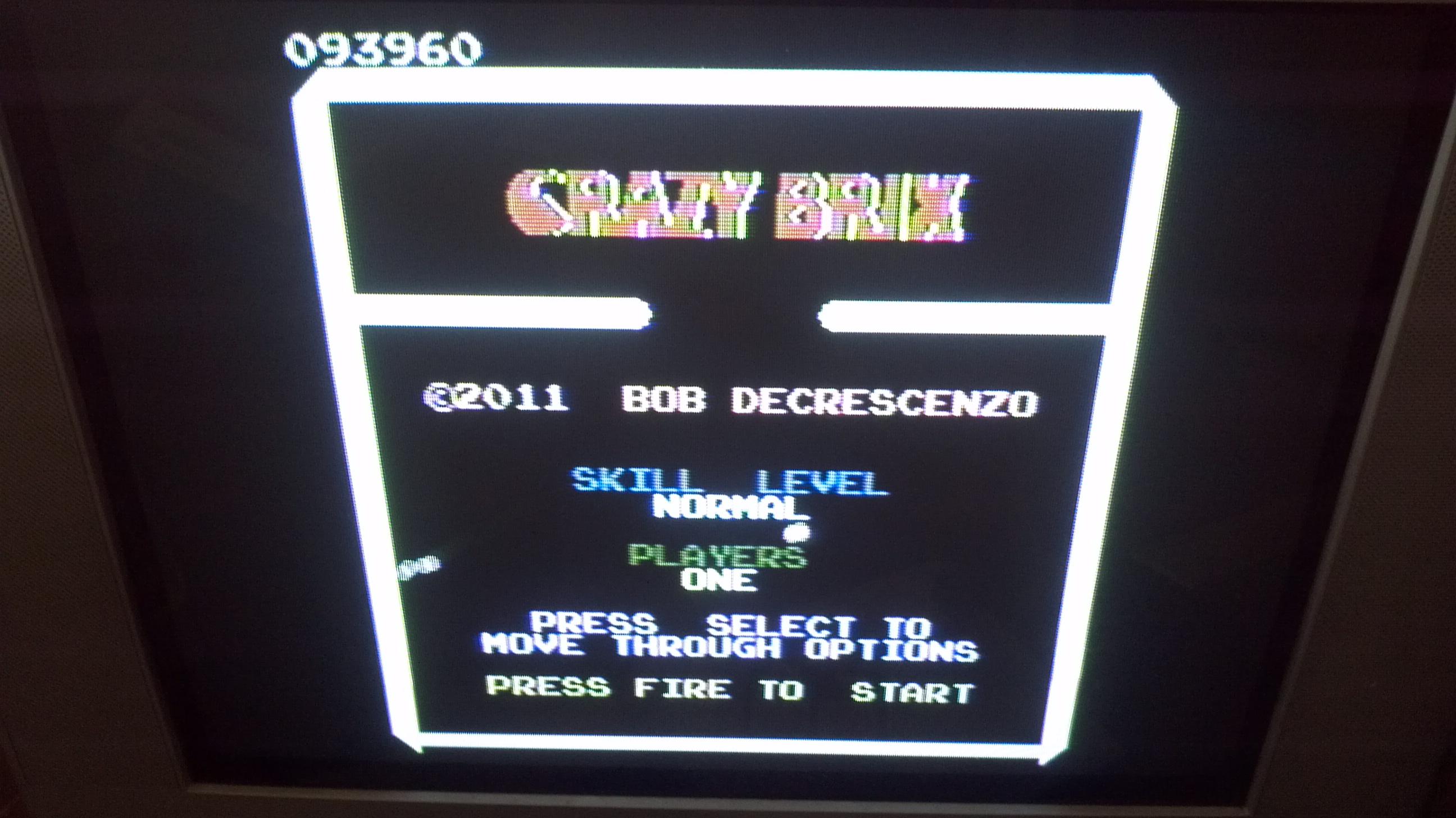Crazy Brix: Normal 93,960 points