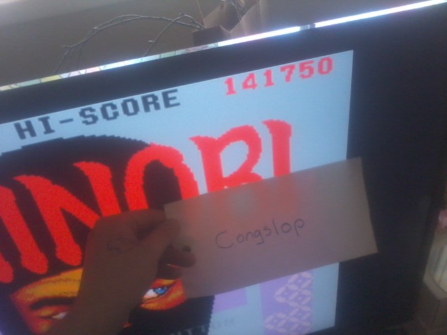 Congslop: Shinobi (Sega Master System Emulated) 141,750 points on 2014-05-26 15:00:57