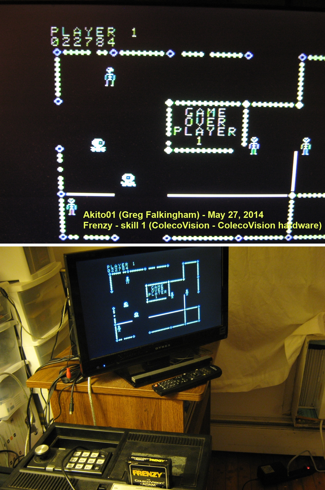 Akito01: Frenzy (Colecovision) 22,784 points on 2014-05-27 23:27:37