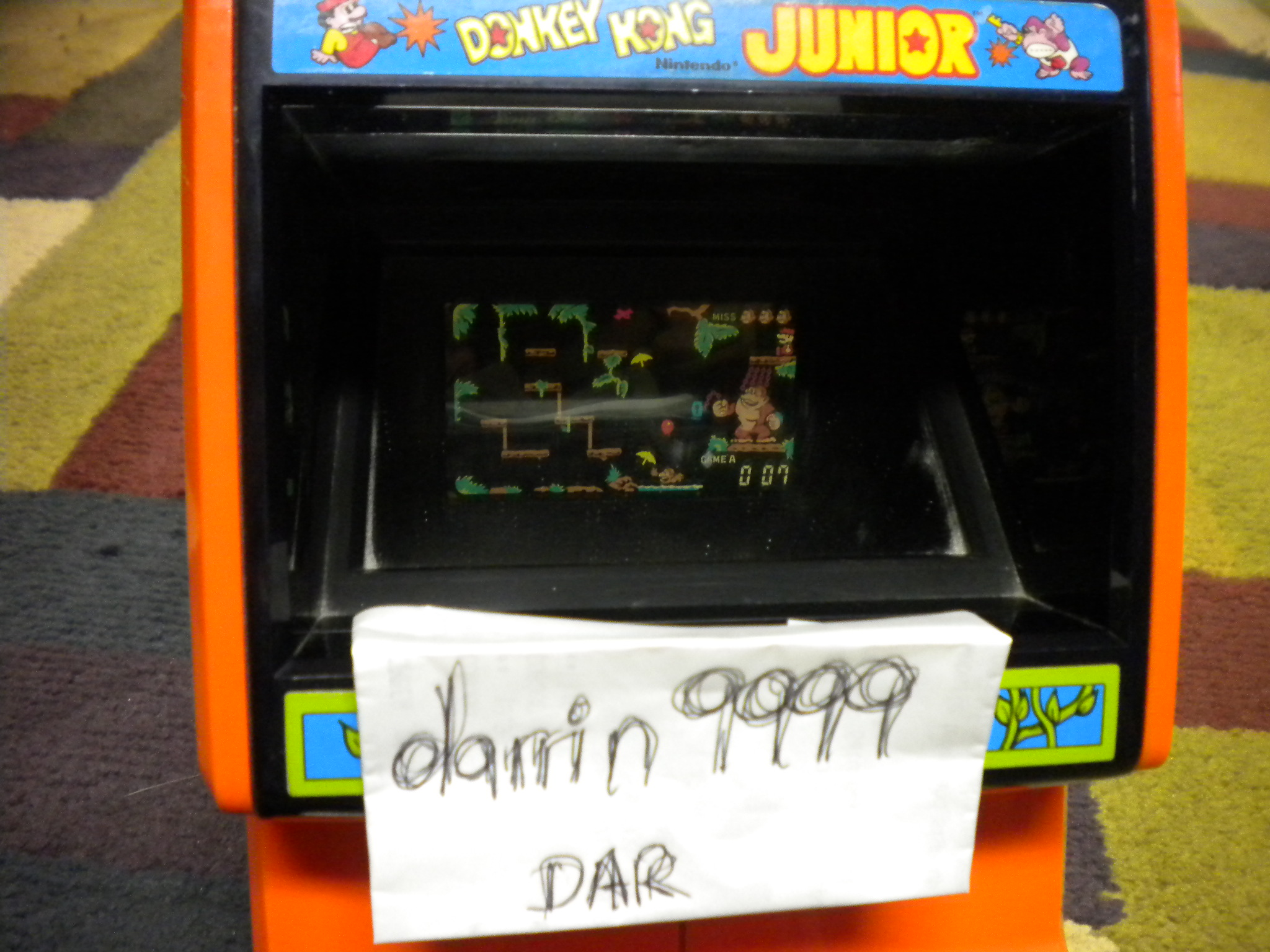Coleco Donkey Kong Junior 7 points