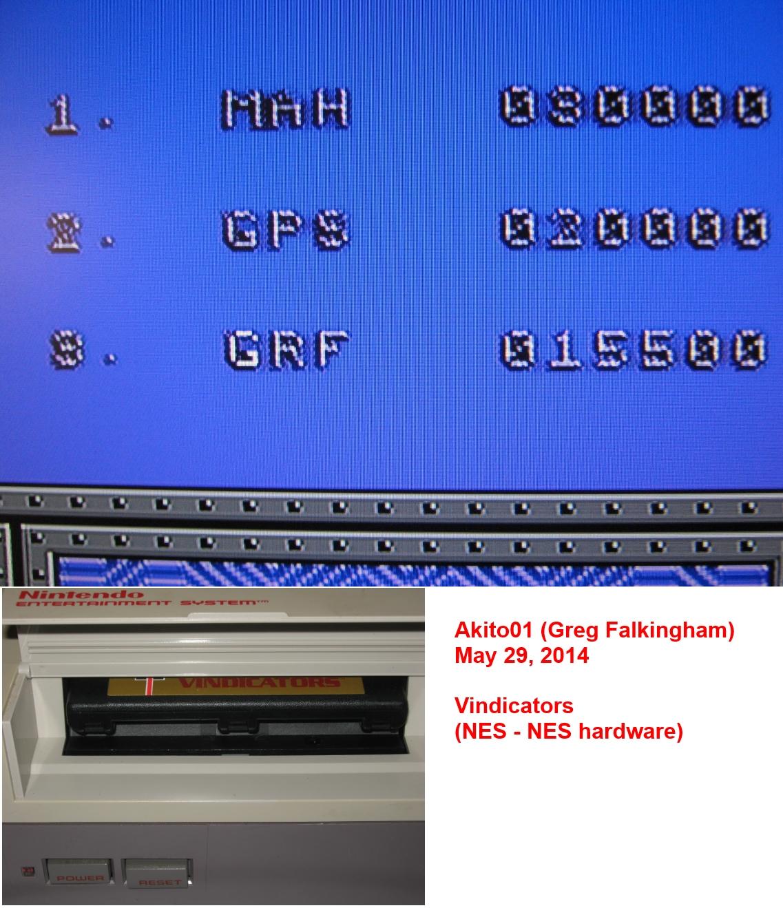 Akito01: Vindicators (NES/Famicom) 15,500 points on 2014-05-29 17:42:32