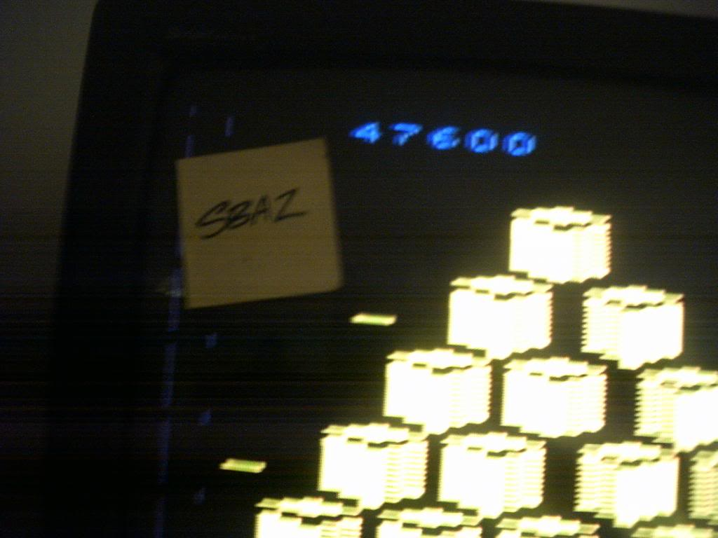 Q*bert 47,600 points