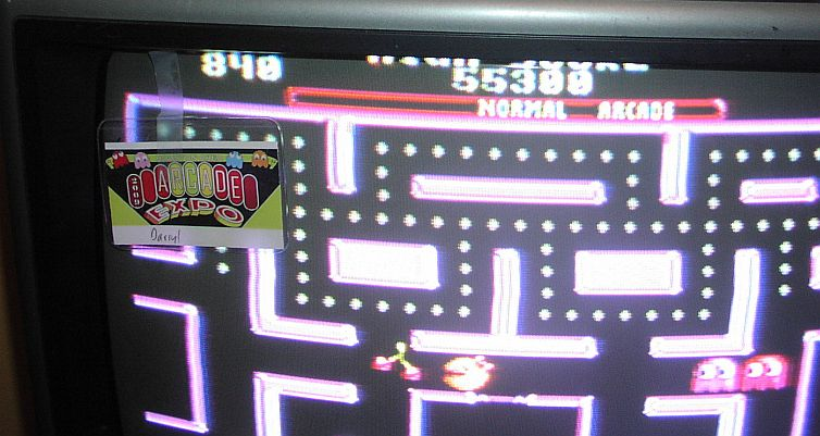 Ms. Pac-Man 55,300 points