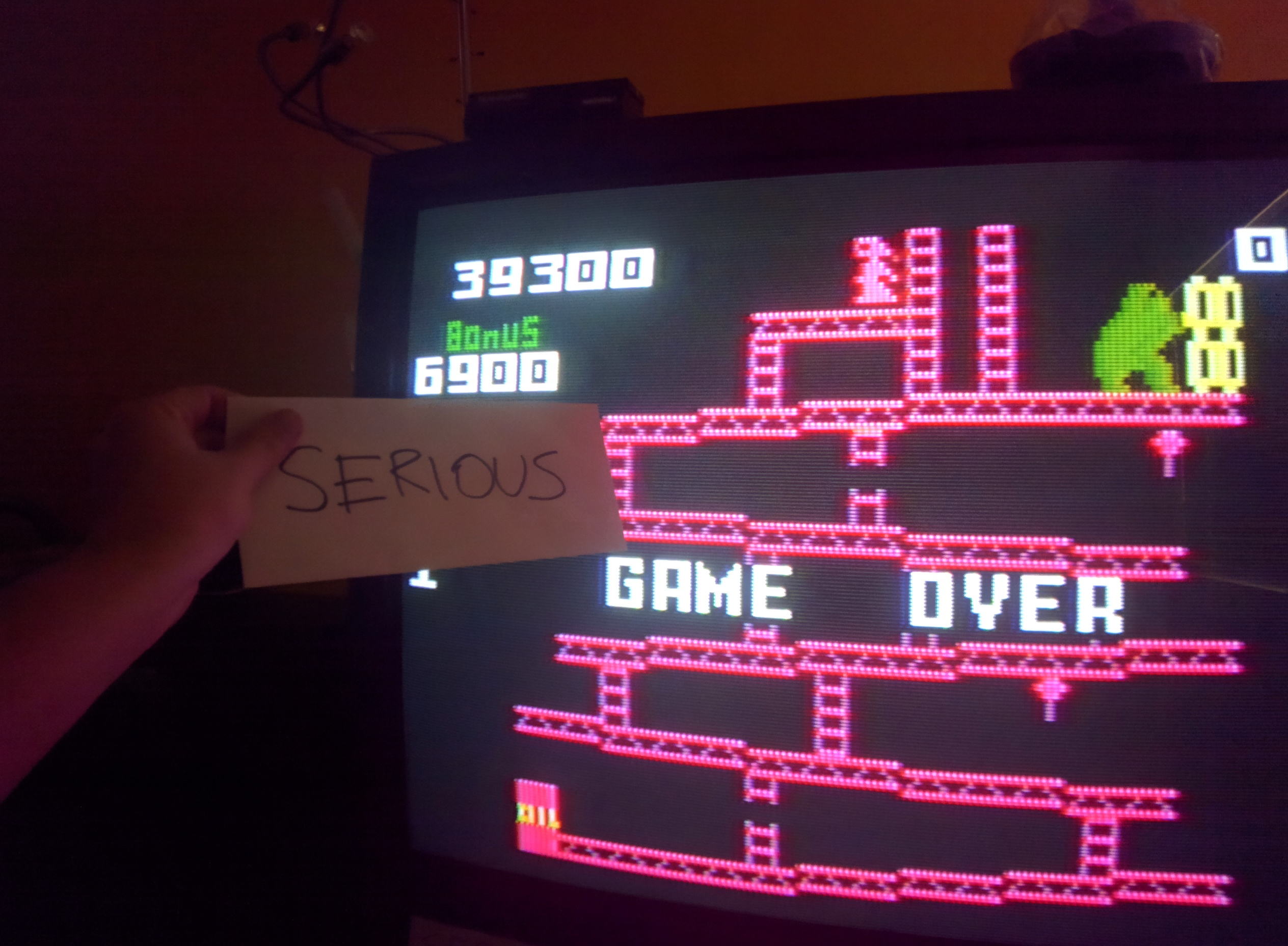 Serious: Donkey Kong: Skill 1 (Intellivision) 39,300 points on 2014-05-31 18:28:56