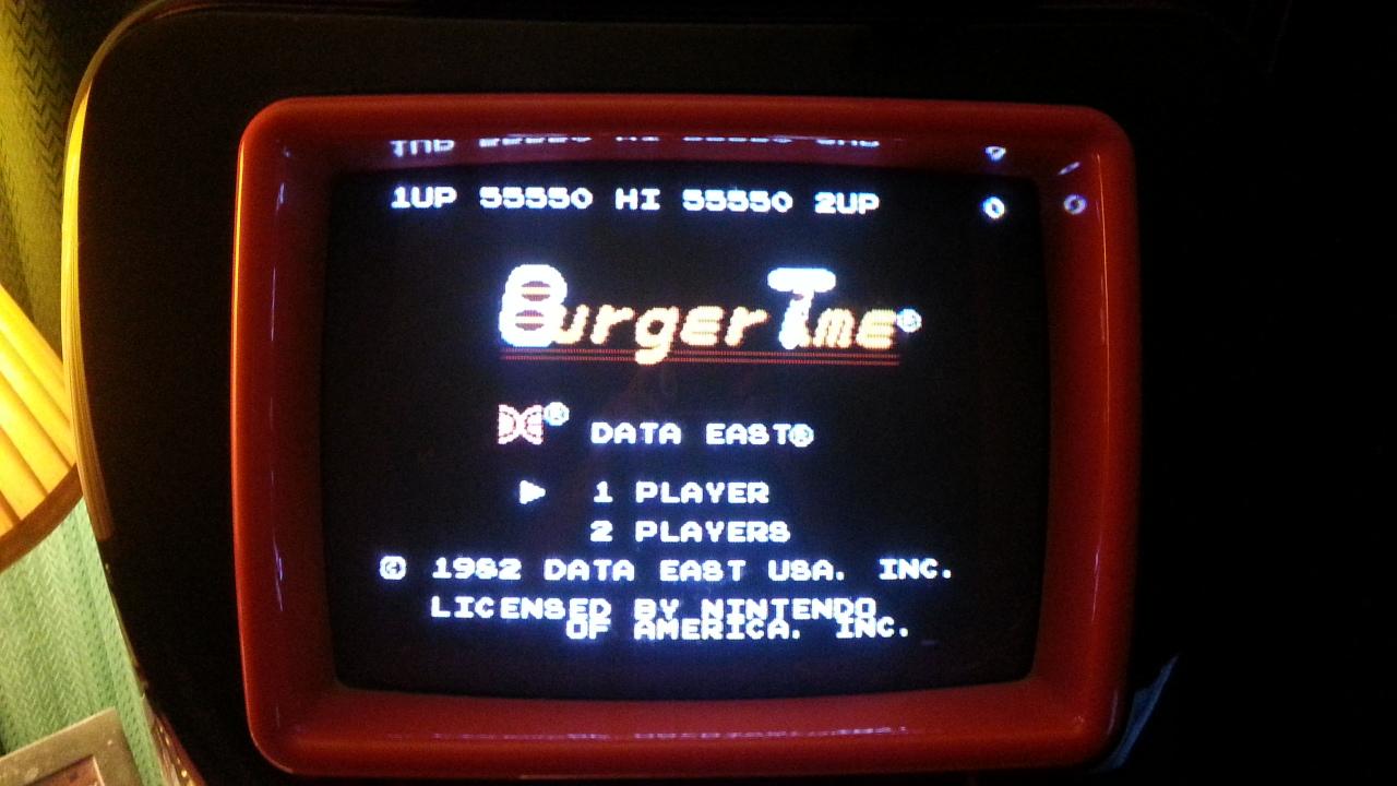 BurgerTime 55,550 points