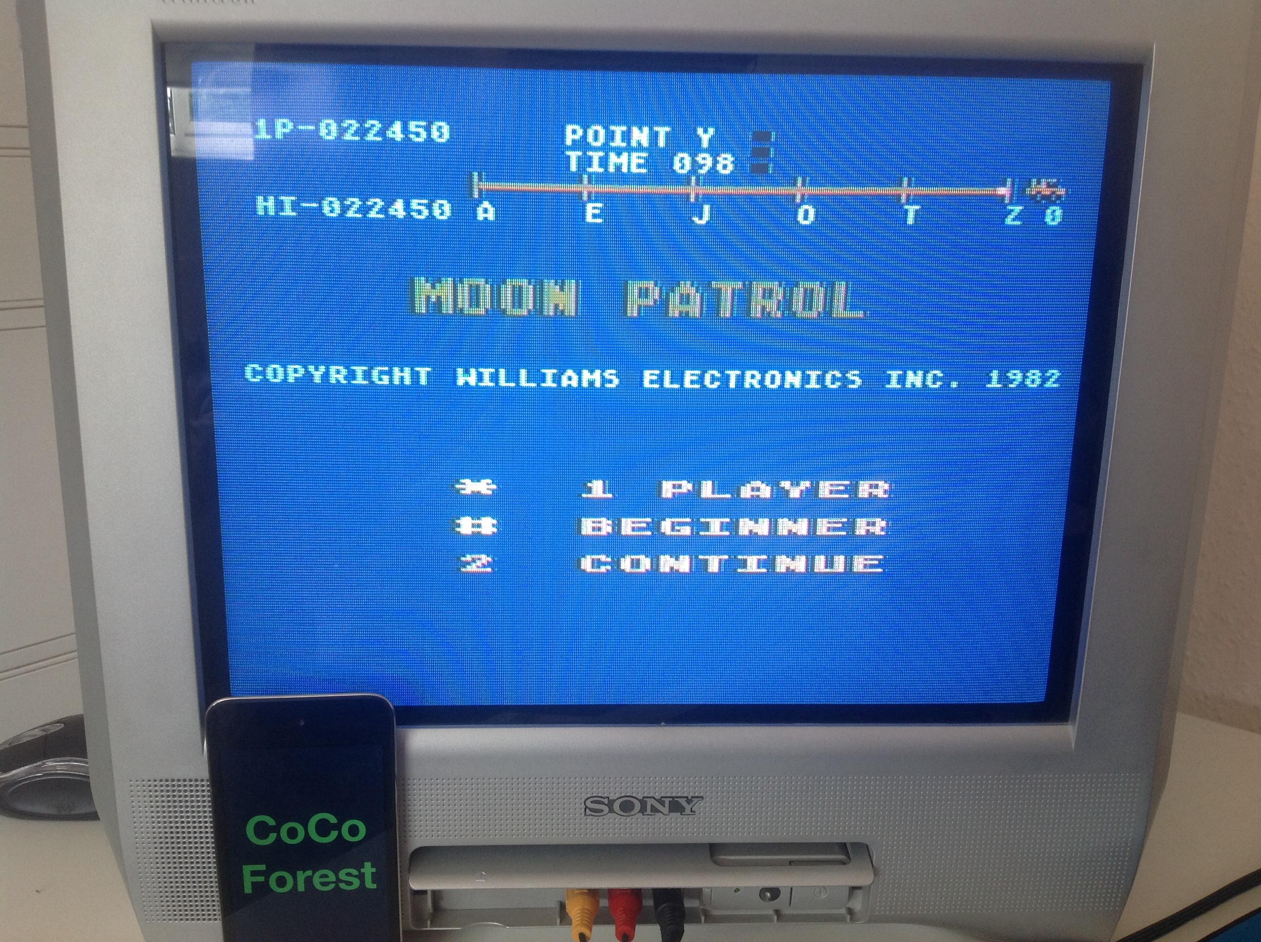 Moon Patrol: Beginner 22,450 points