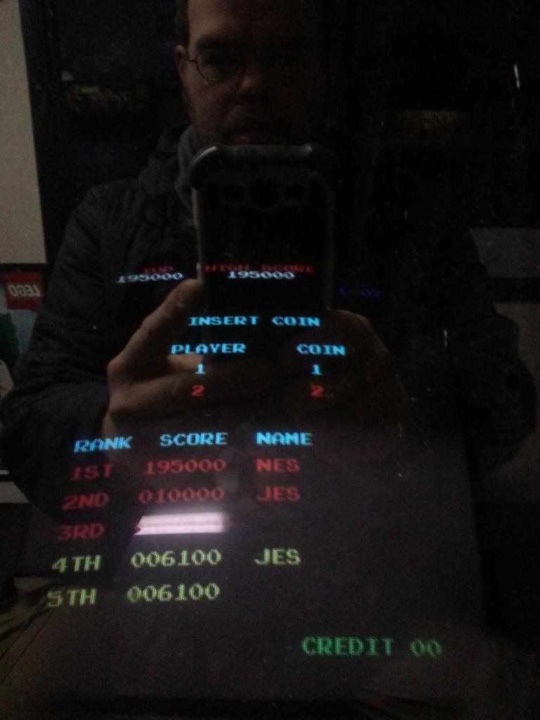 Donkey Kong 195,000 points