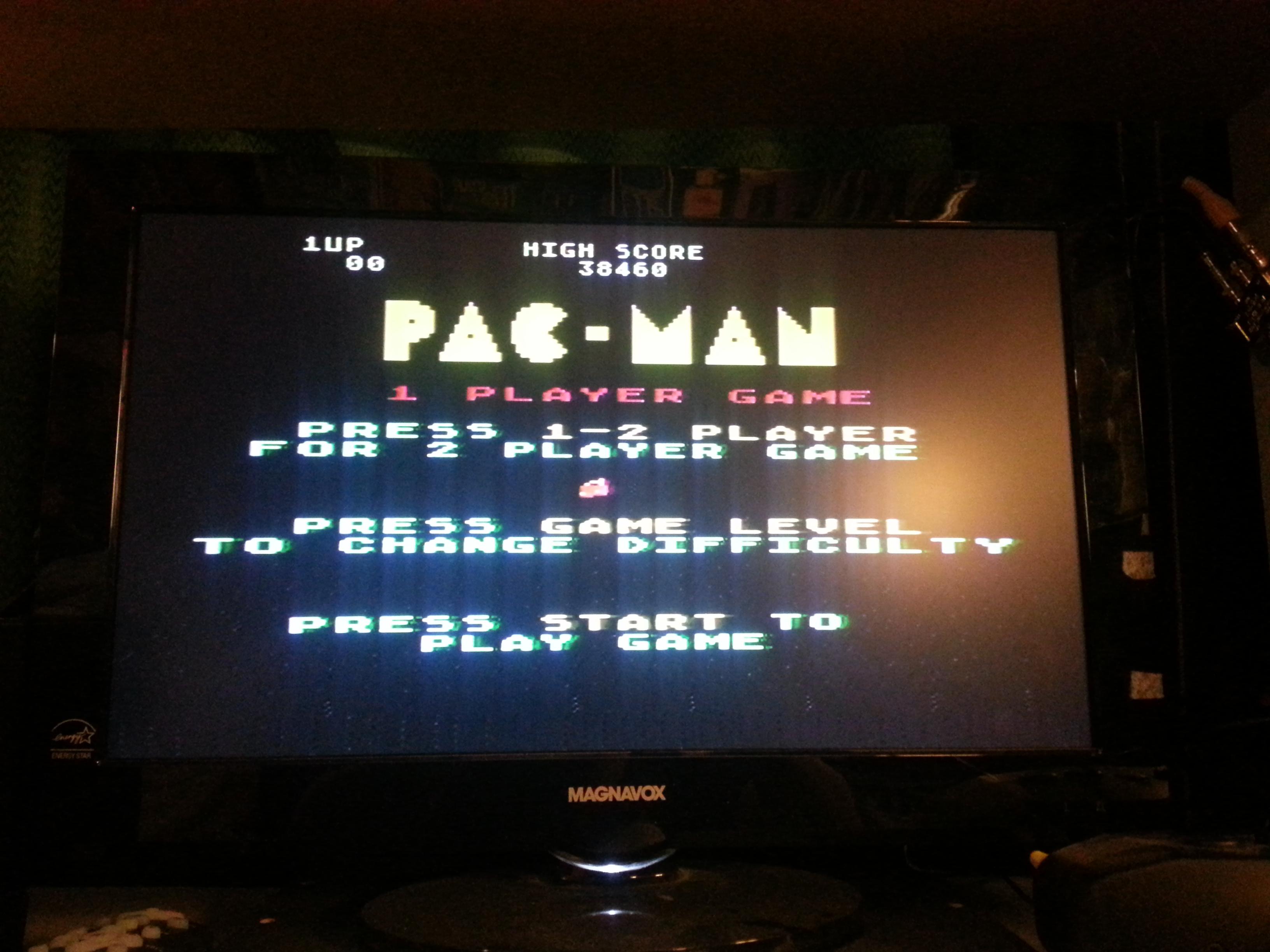 Pac-Man: Cherries Start 38,460 points