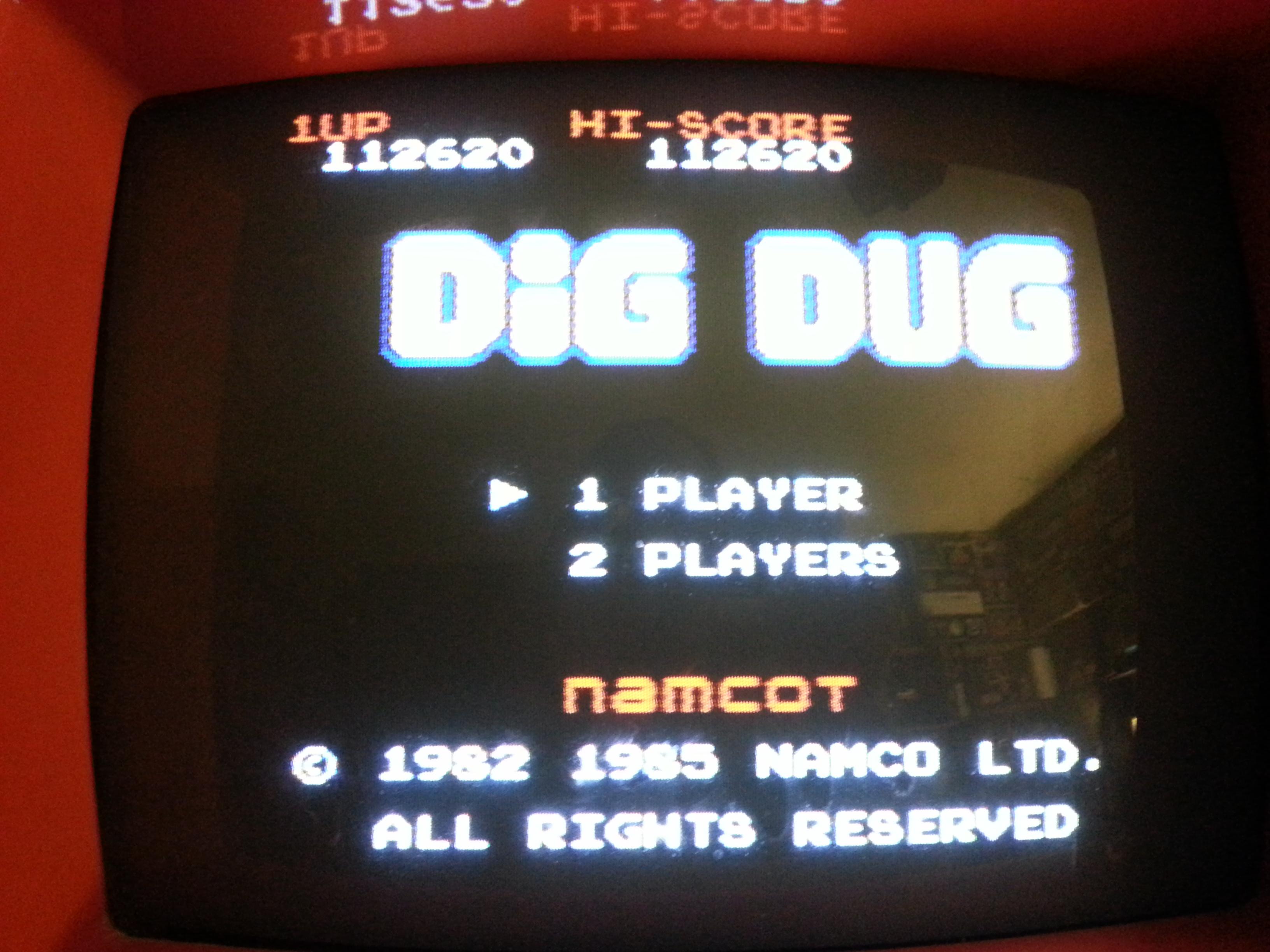Dig Dug 112,620 points