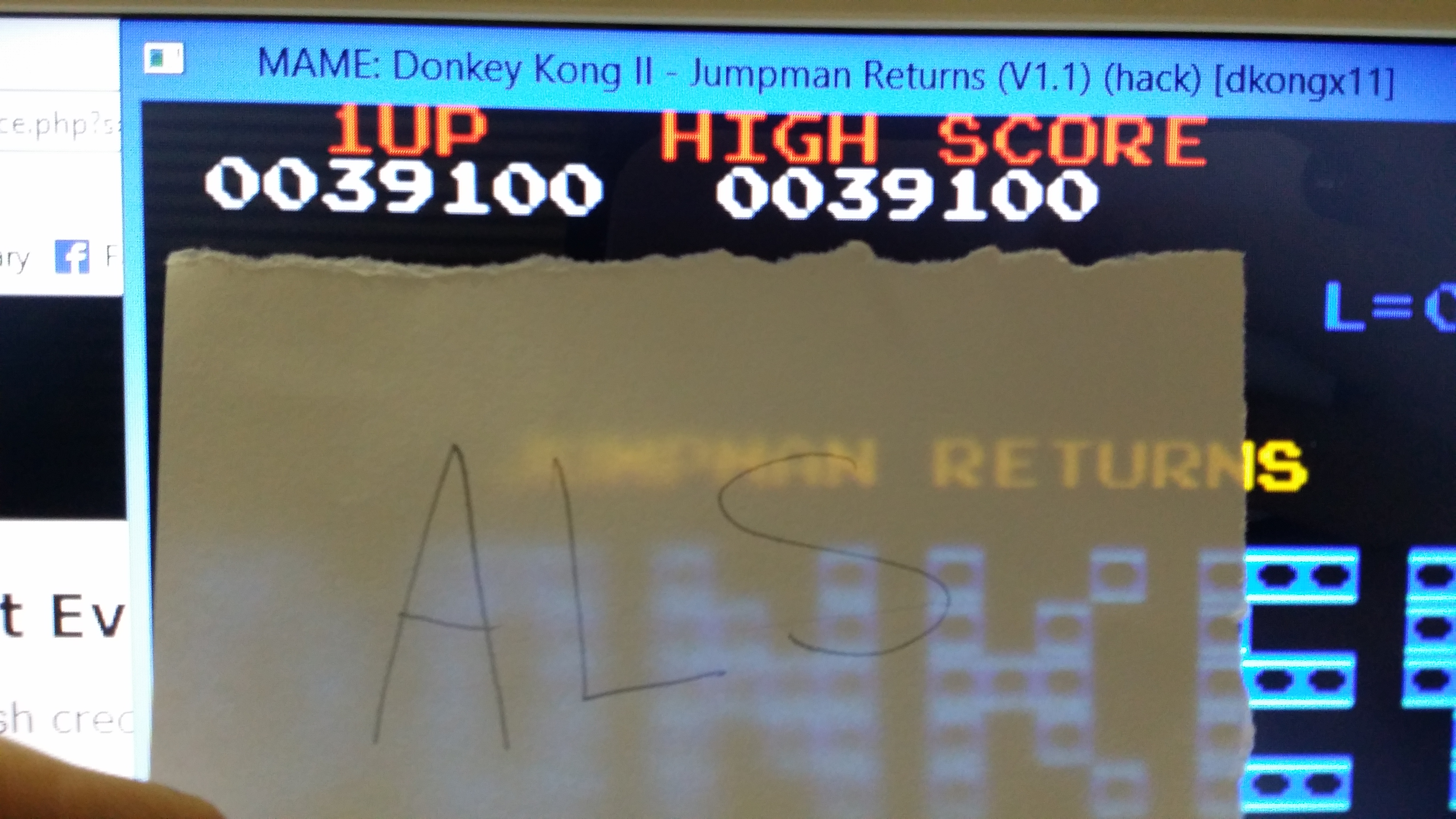 Donkey Kong II: Jumpman Returns [dkongx] 39,100 points