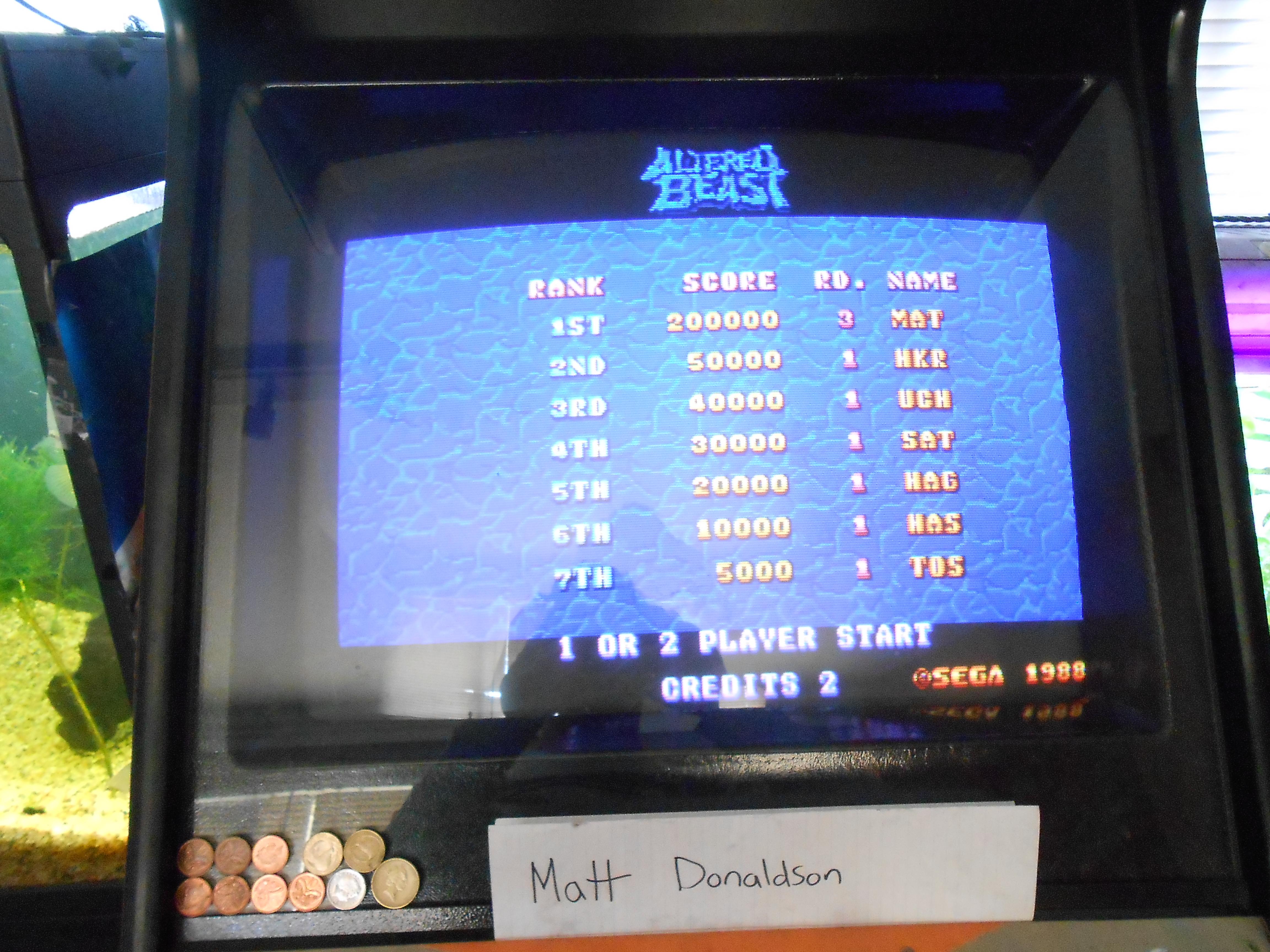 MattDonaldson: Altered Beast [altbeast] (Arcade Emulated / M.A.M.E.) 200,000 points on 2014-06-03 22:40:11