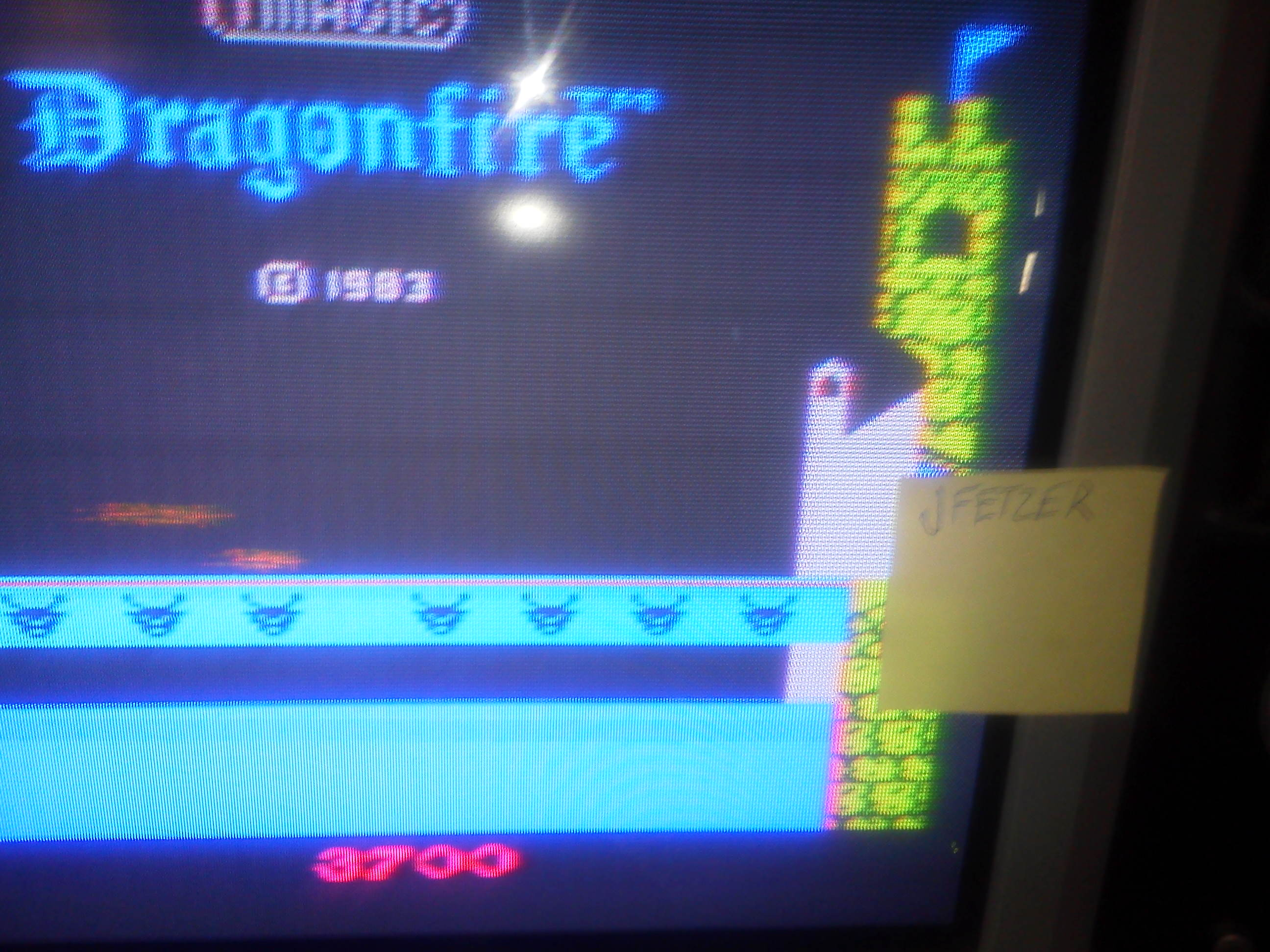 jfetzer: Dragonfire (Commodore VIC-20) 3,700 points on 2014-06-05 17:08:25
