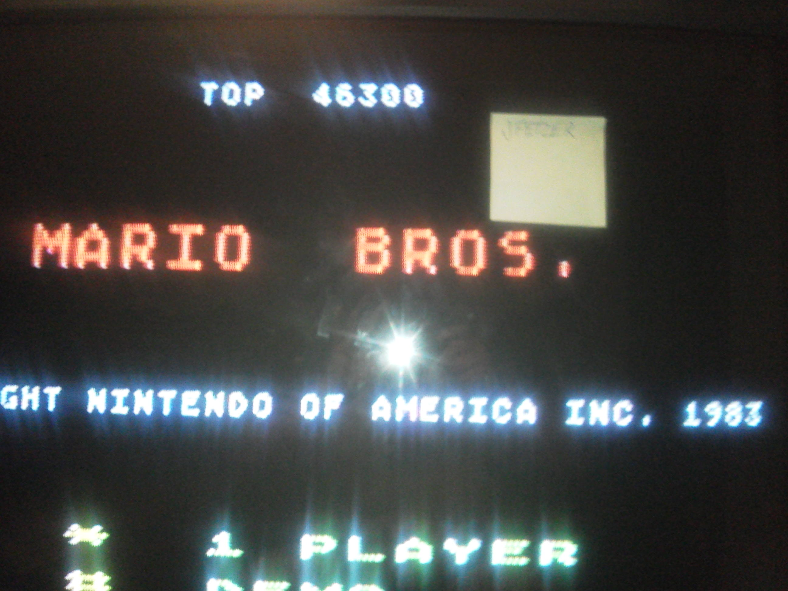 jfetzer: Mario Bros (Atari 5200) 46,300 points on 2014-06-05 19:52:39