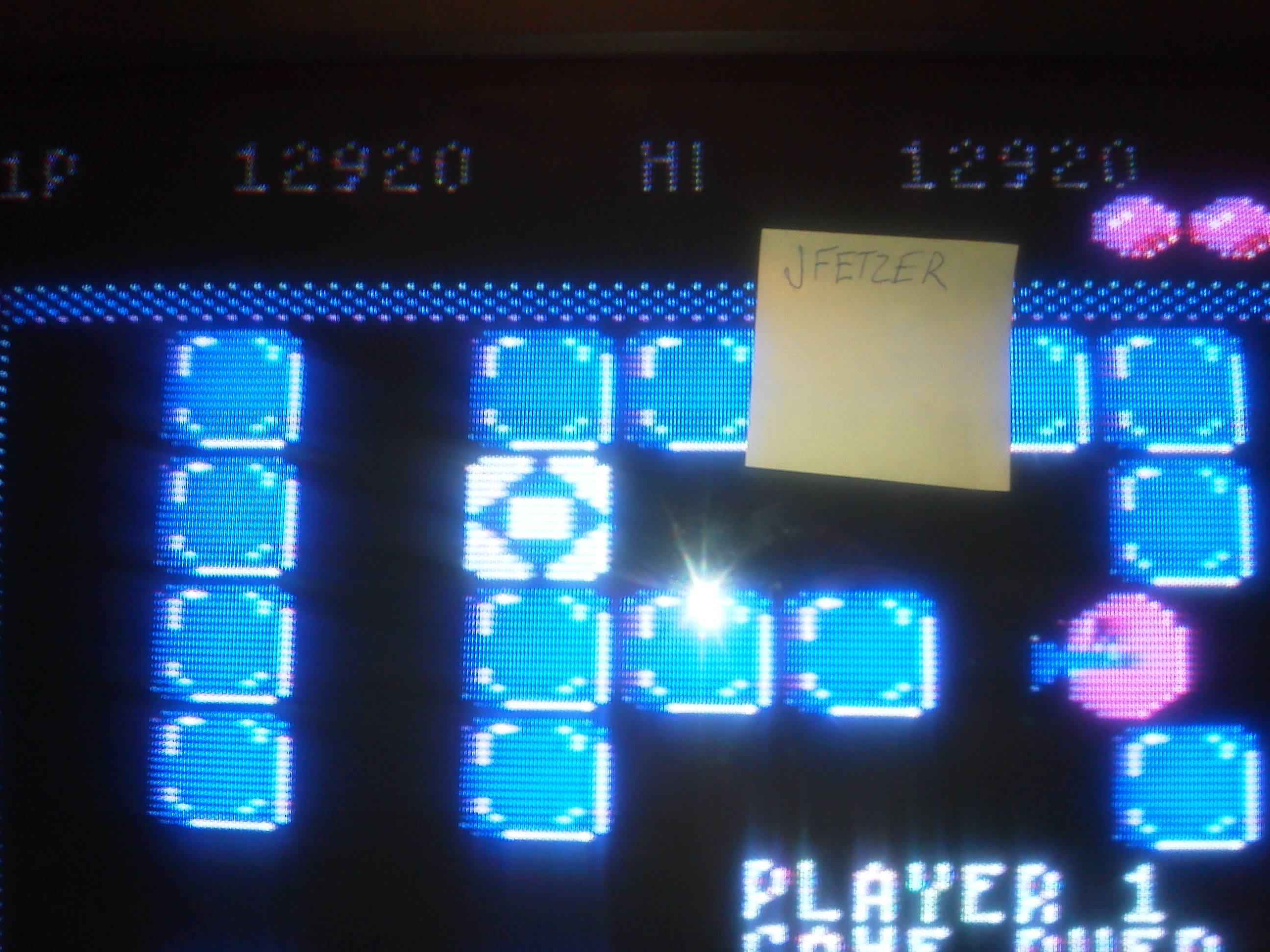 jfetzer: Pengo (Atari 5200) 12,920 points on 2014-06-05 20:15:15