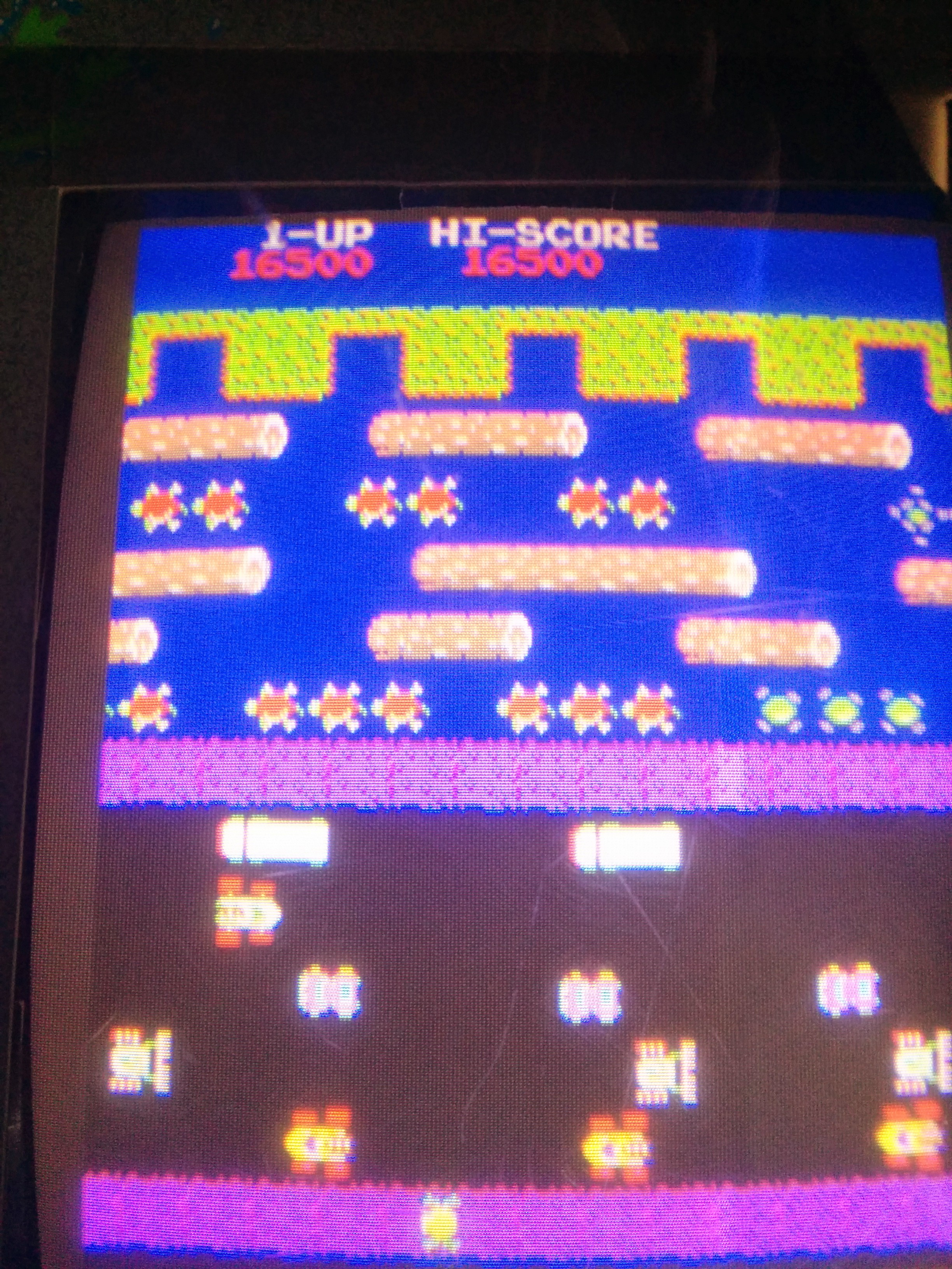 Frogger 16,500 points