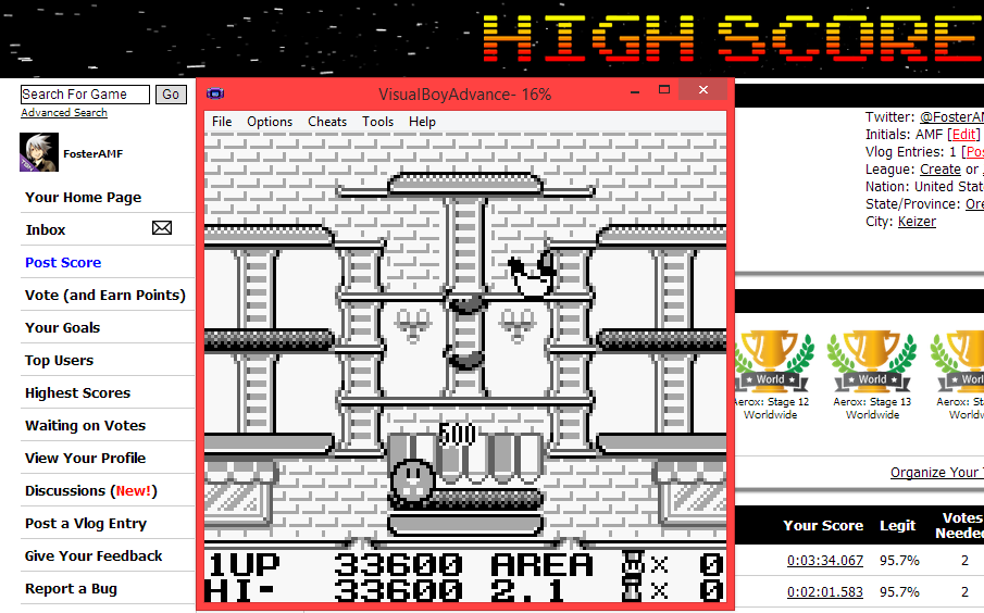 FosterAMF: Burgertime Deluxe (Game Boy Emulated) 33,600 points on 2014-06-06 14:03:11