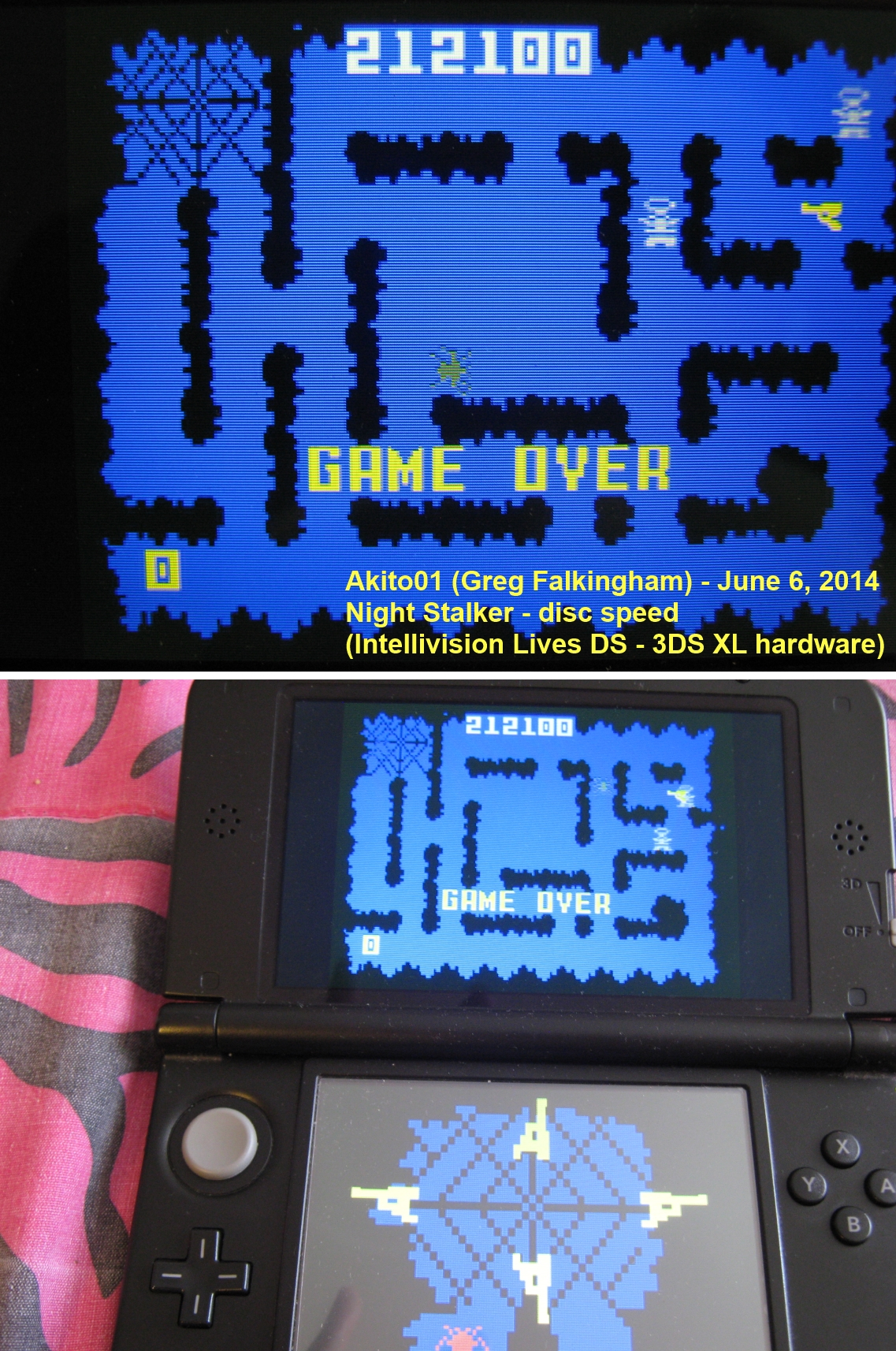 Akito01: Intellivision Lives: Night Stalker (Nintendo DS) 212,100 points on 2014-06-06 15:30:09