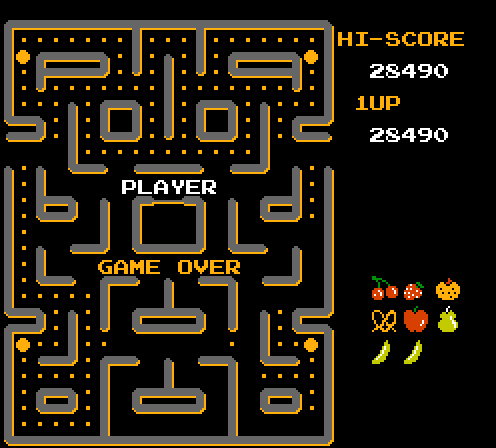 EricEsoteric: Ms. Pac-Man [Namco] (NES/Famicom Emulated) 28,490 points on 2013-09-27 09:08:32