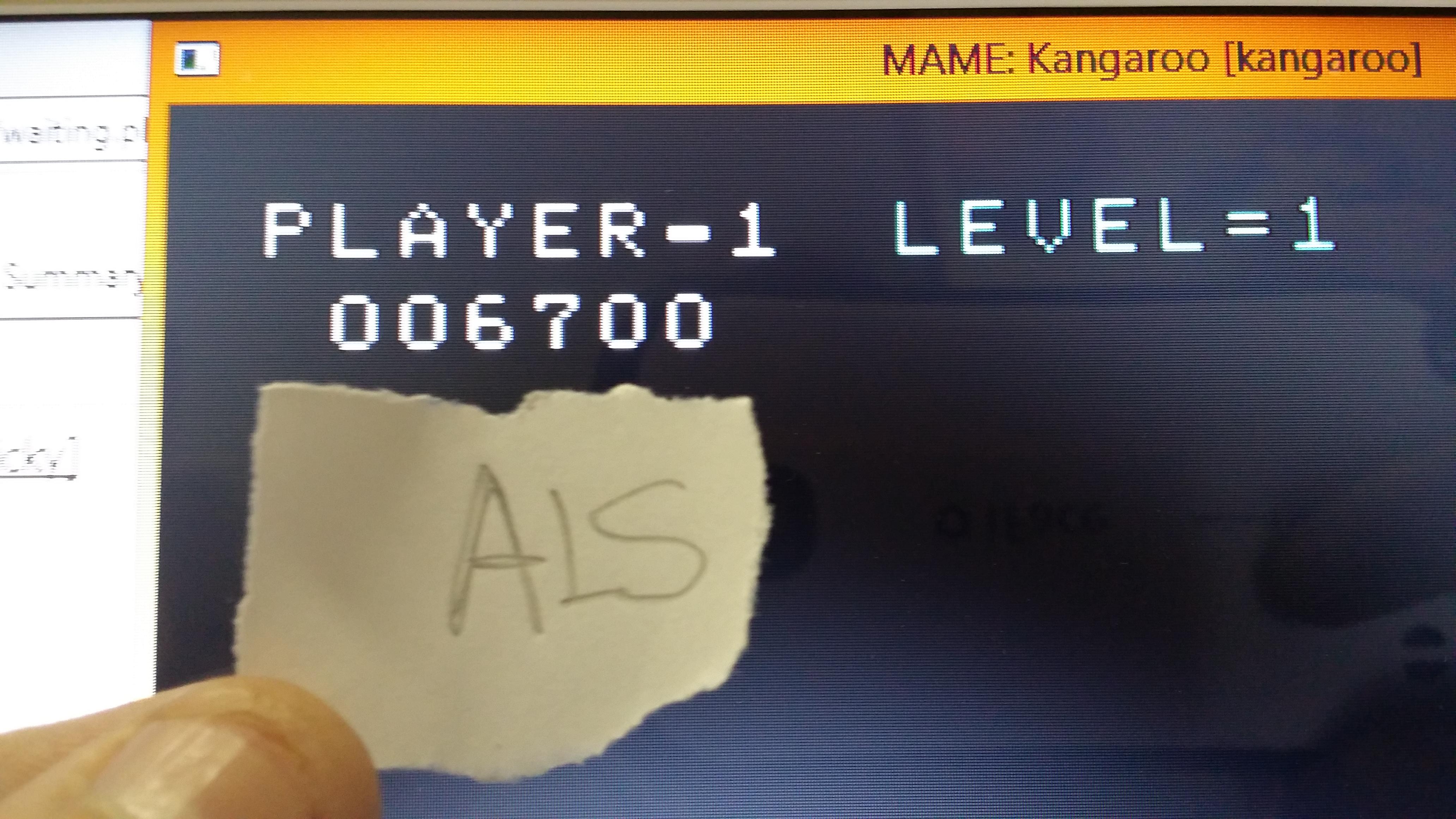 muscleandfitness: Kangaroo (Arcade Emulated / M.A.M.E.) 6,700 points on 2014-06-07 06:17:10