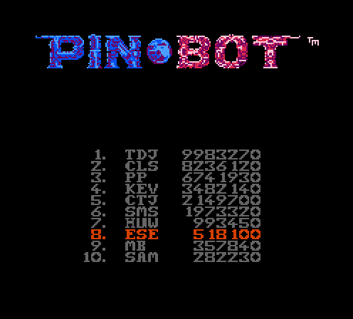 Pin*Bot 518,100 points