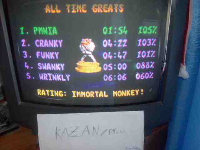 PMniac: Donkey Kong Country 3: Percent Complete (SNES/Super Famicom) 105 points on 2014-06-08 12:14:20