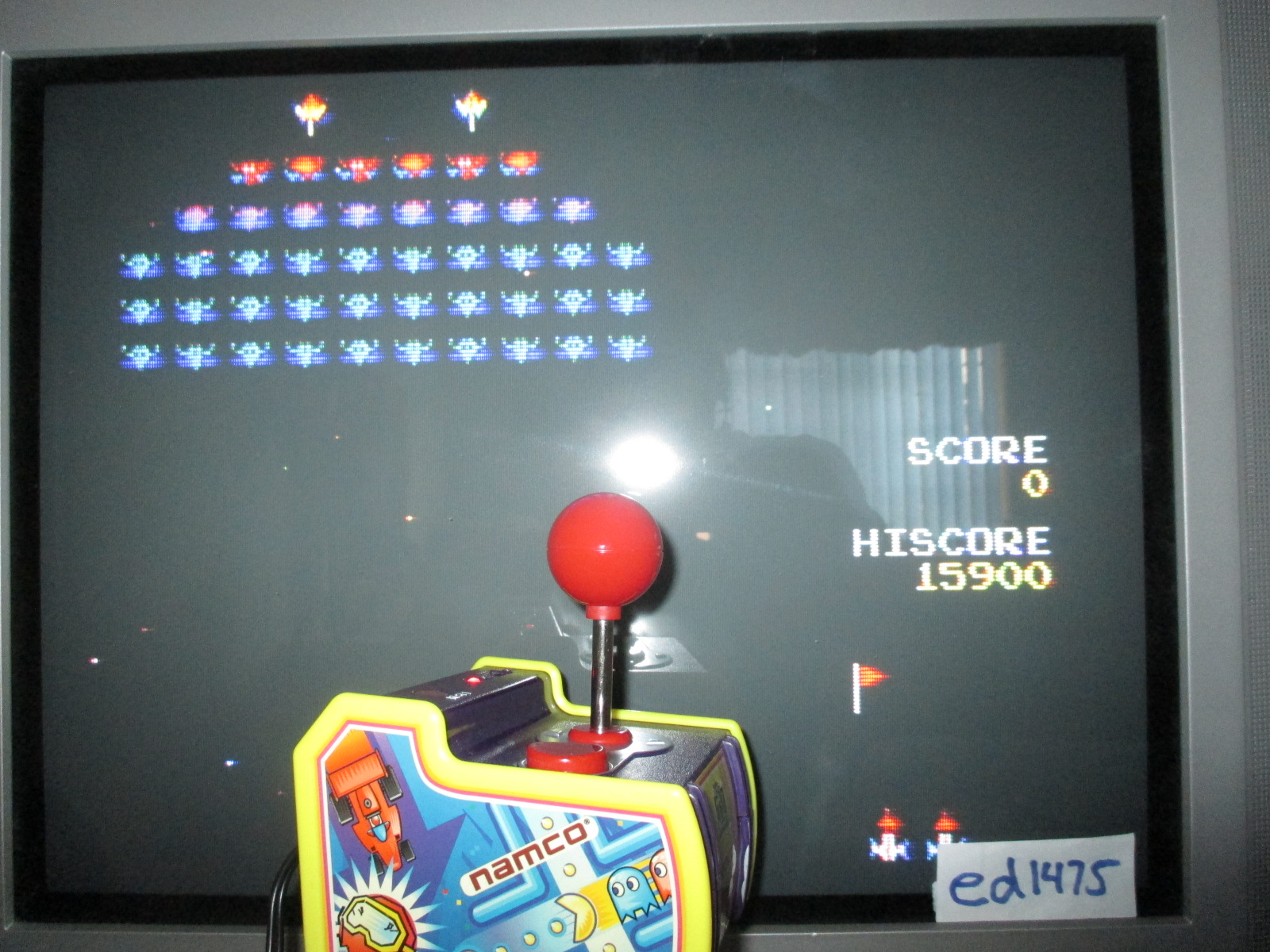 ed1475: Galaxian (Jakks Pacific Pac-Man TV) 15,900 points on 2014-06-08 19:15:09