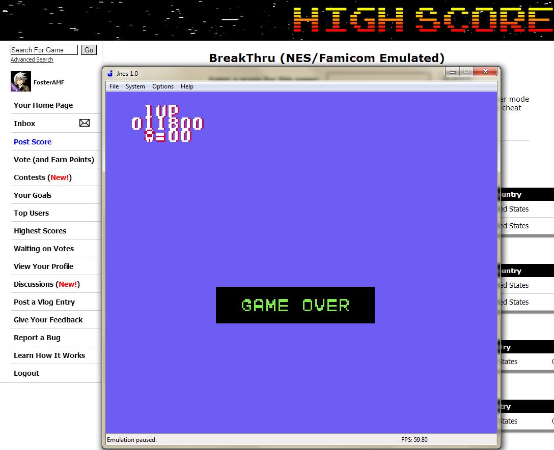 FosterAMF: BreakThru (NES/Famicom Emulated) 11,800 points on 2014-06-09 01:54:54