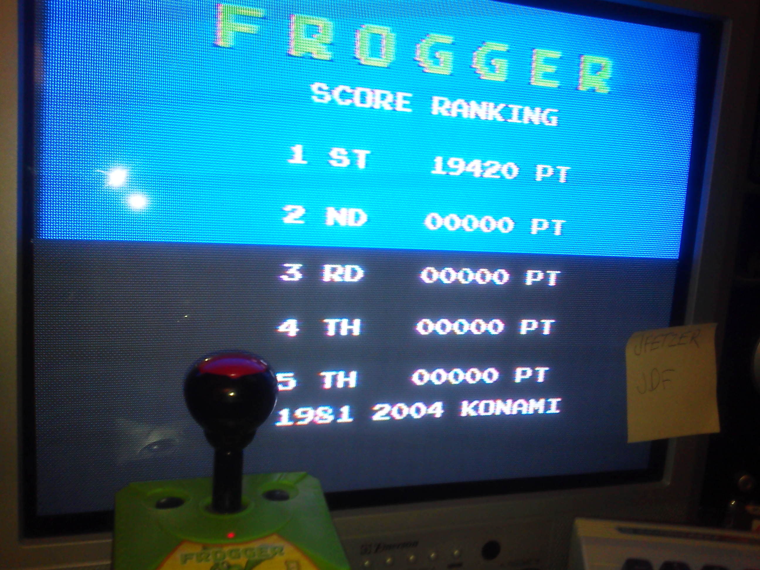 Frogger 19,420 points