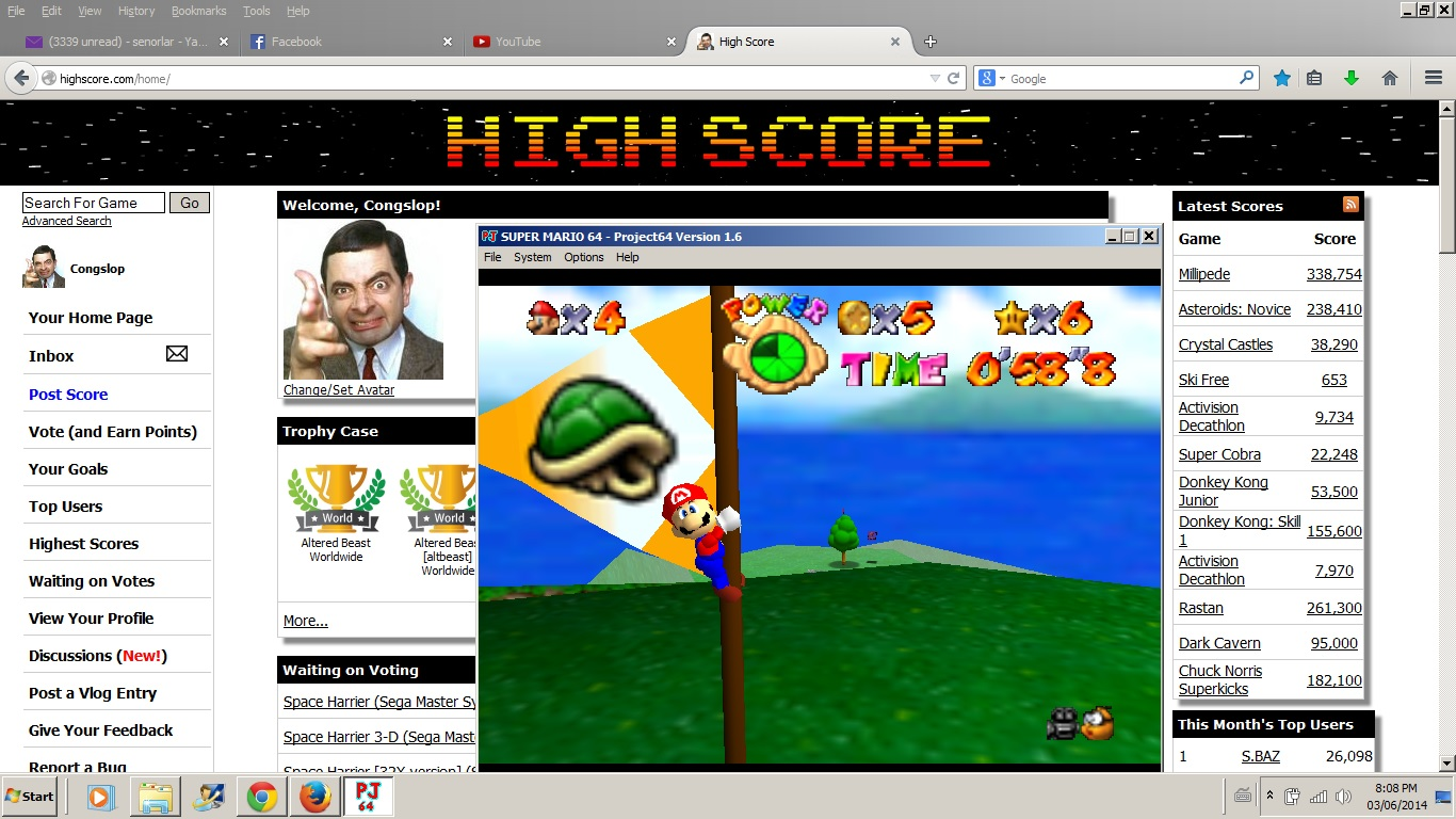 Congslop: Super Mario 64: Footrace with Koopa The Quick (N64 Emulated) 0:00:58.8 points on 2014-06-09 20:10:41