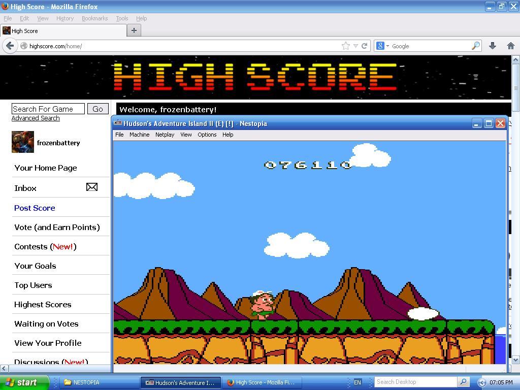 Adventure Island II 76,110 points