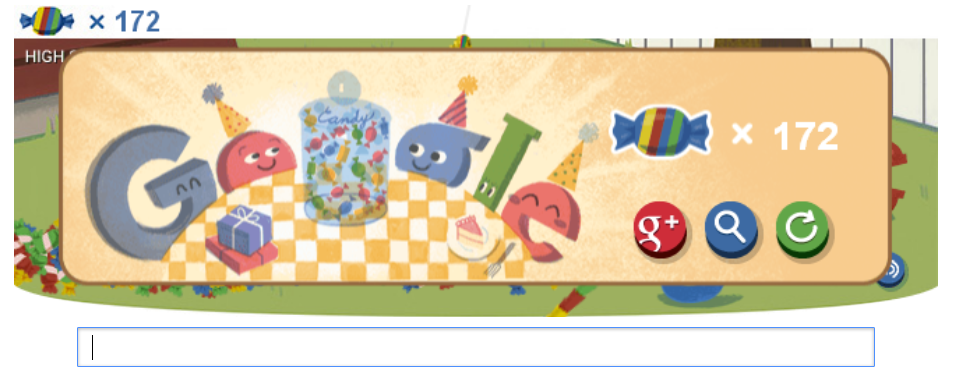 Google 15th Birthday Doodle 172 points