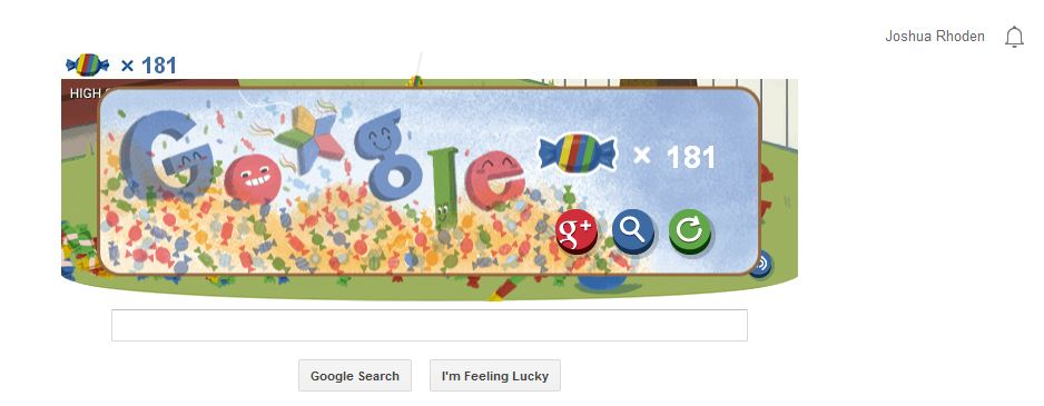 Google 15th Birthday Doodle 181 points
